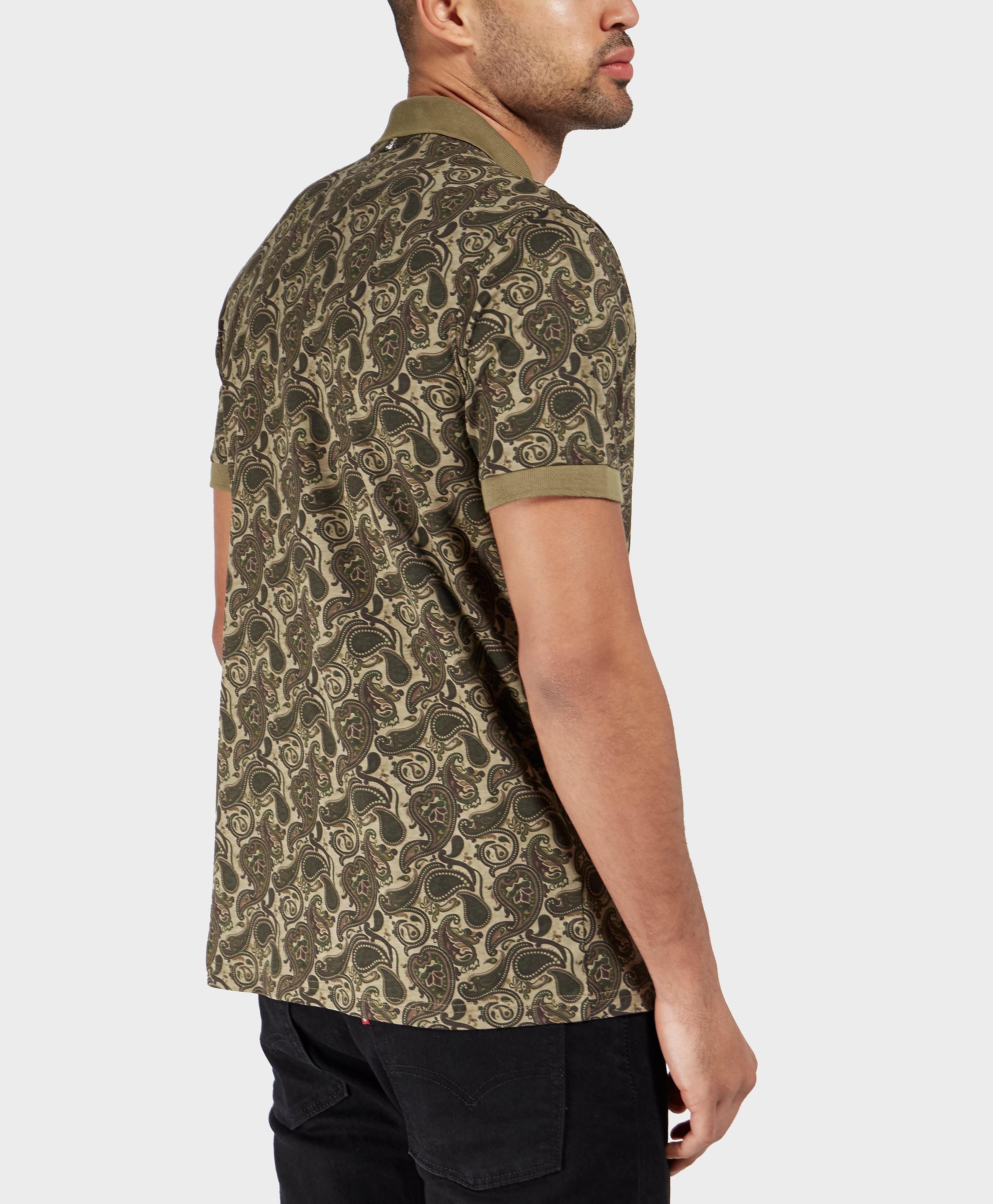 Pretty Green Camo Paisley Short Sleeve Polo Shirt