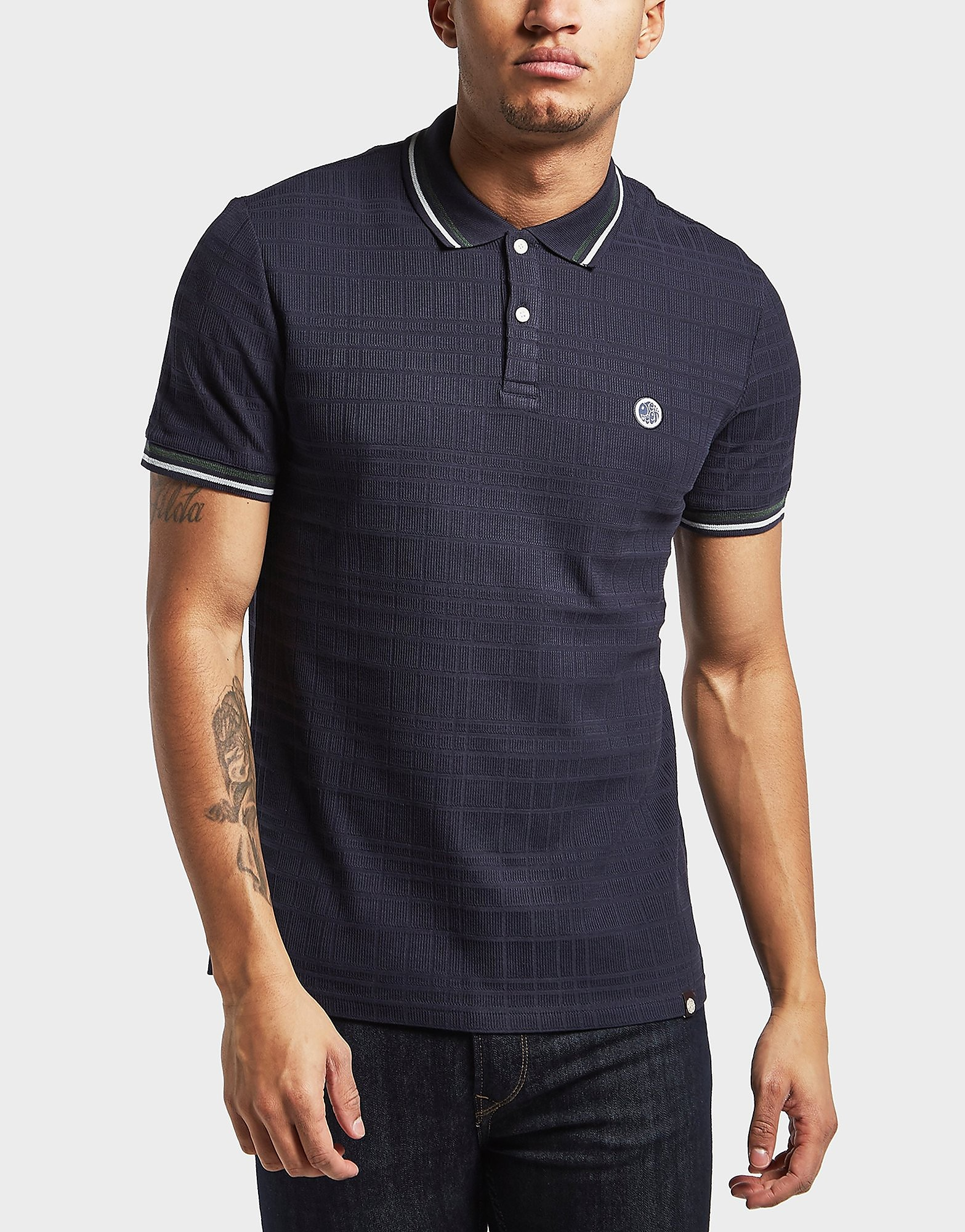 Pretty Green Arlow Textured Short Sleeve Polo Shirt