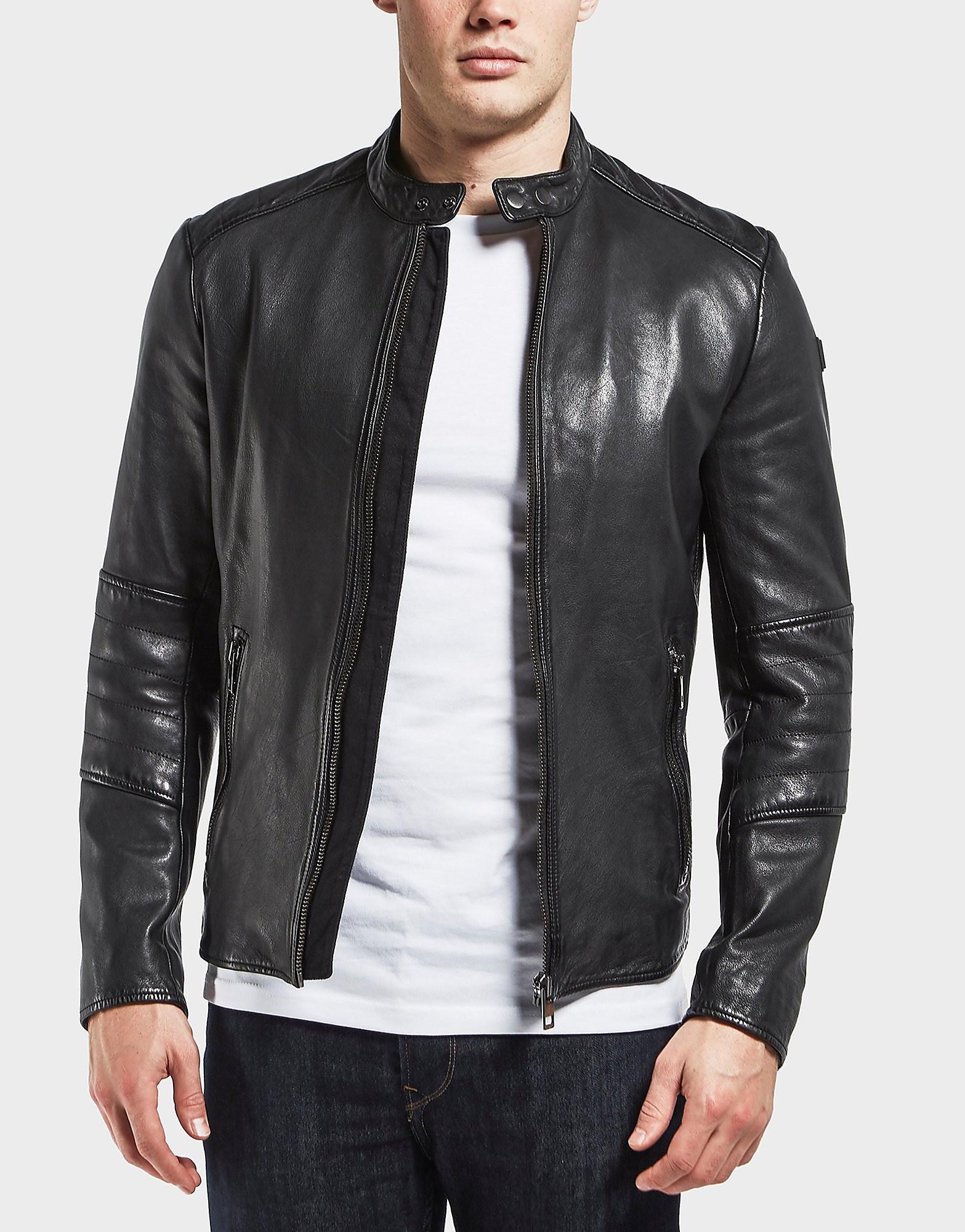 BOSS Orange Leather Padded Jacket