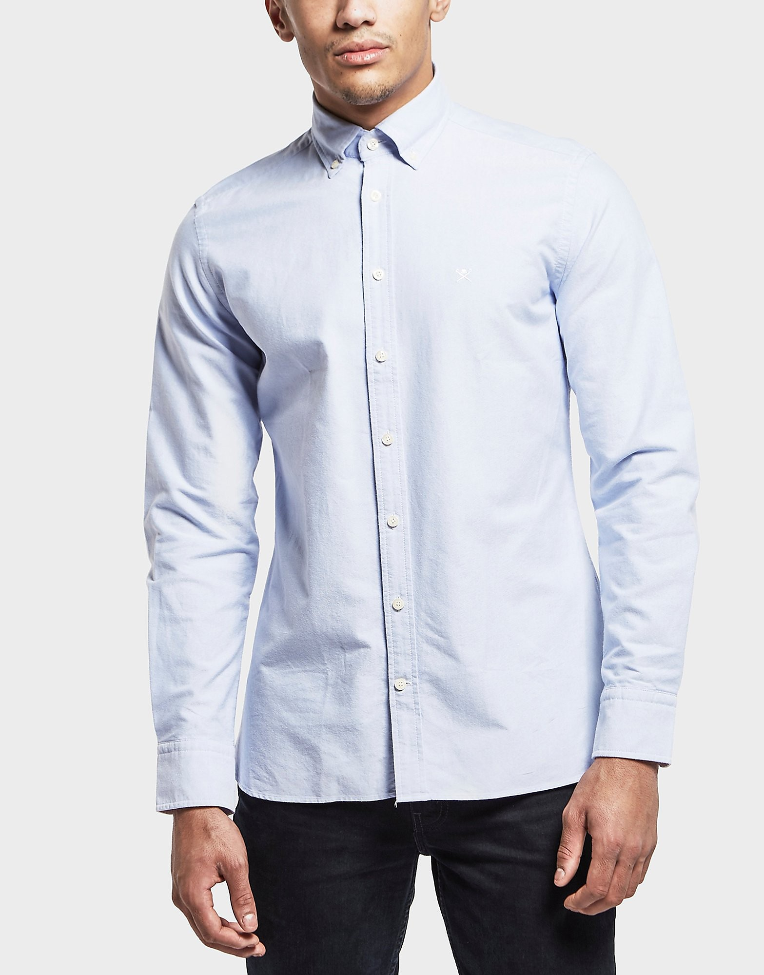 HACKETT Wash Oxford Long Sleeve Shirt