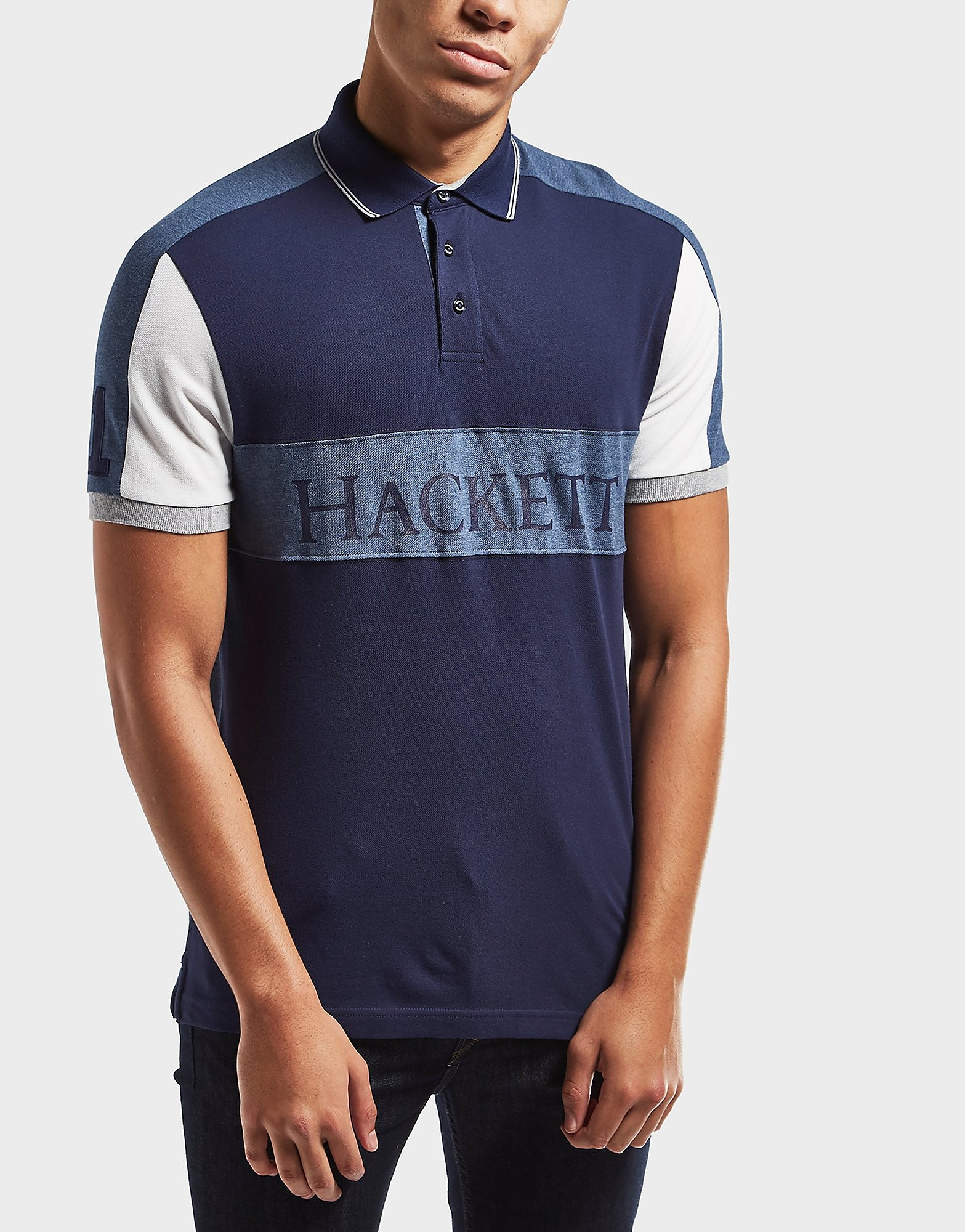 HACKETT Panel Short Sleeve Polo Shirt