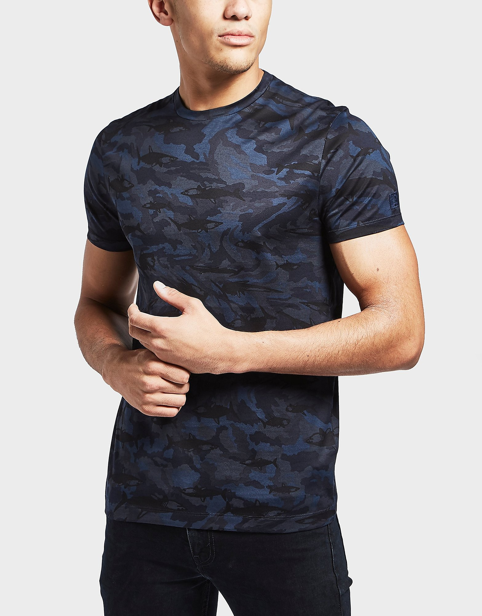 Paul and Shark Shark Camouflage Short Sleeve T-Shirt