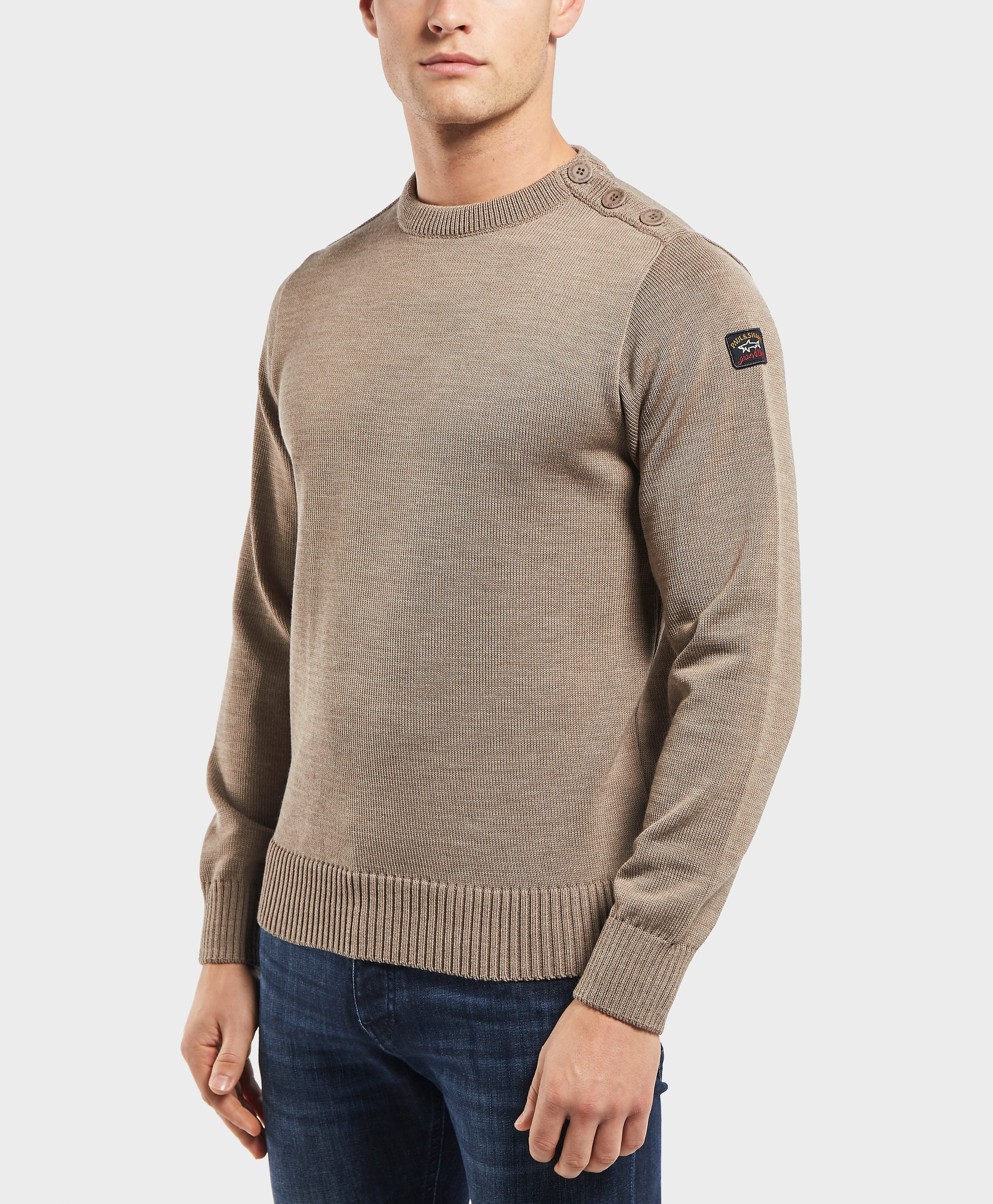 Paul and Shark Button Shoulder Knit Jumper - Exclusive