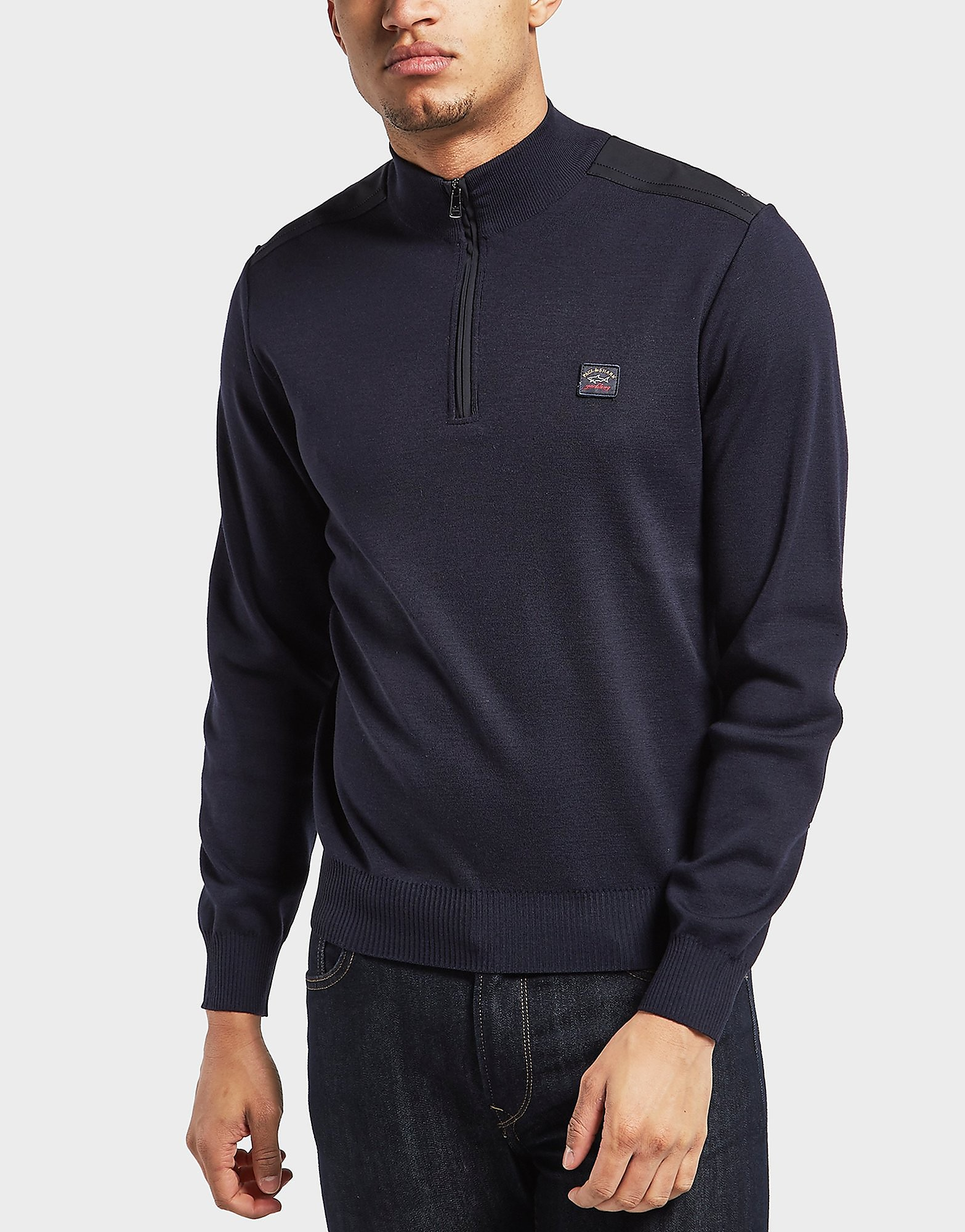 Paul and Shark Half Zip Knitted Jumper
