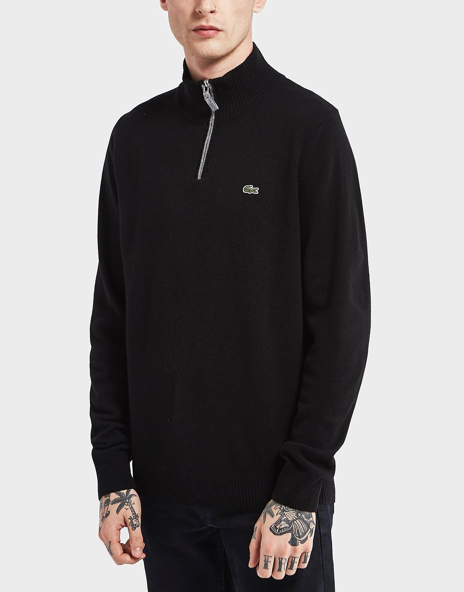 Lacoste Half Zip Knitted Jumper