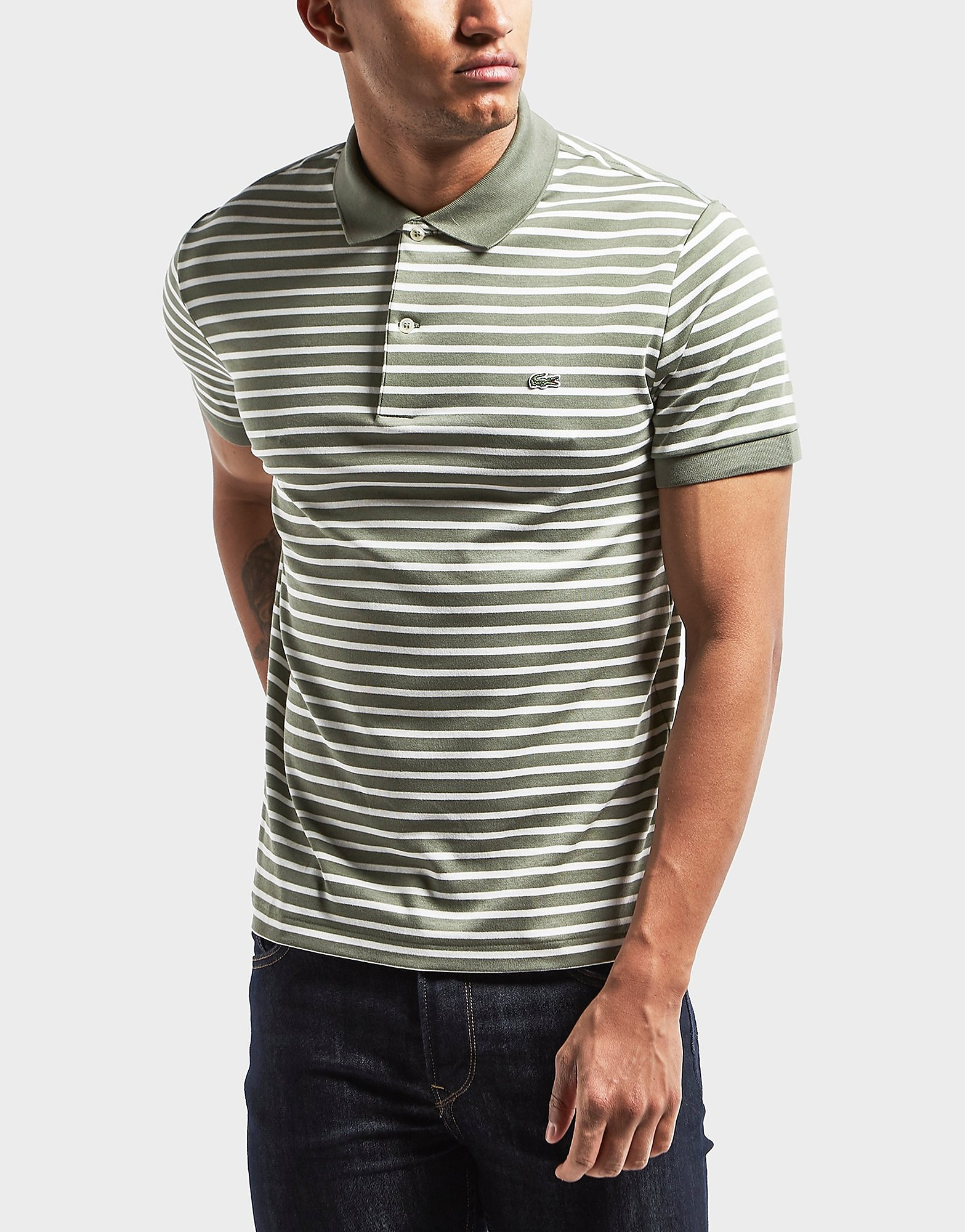 Lacoste Horizontal Stripe Polo Shirt