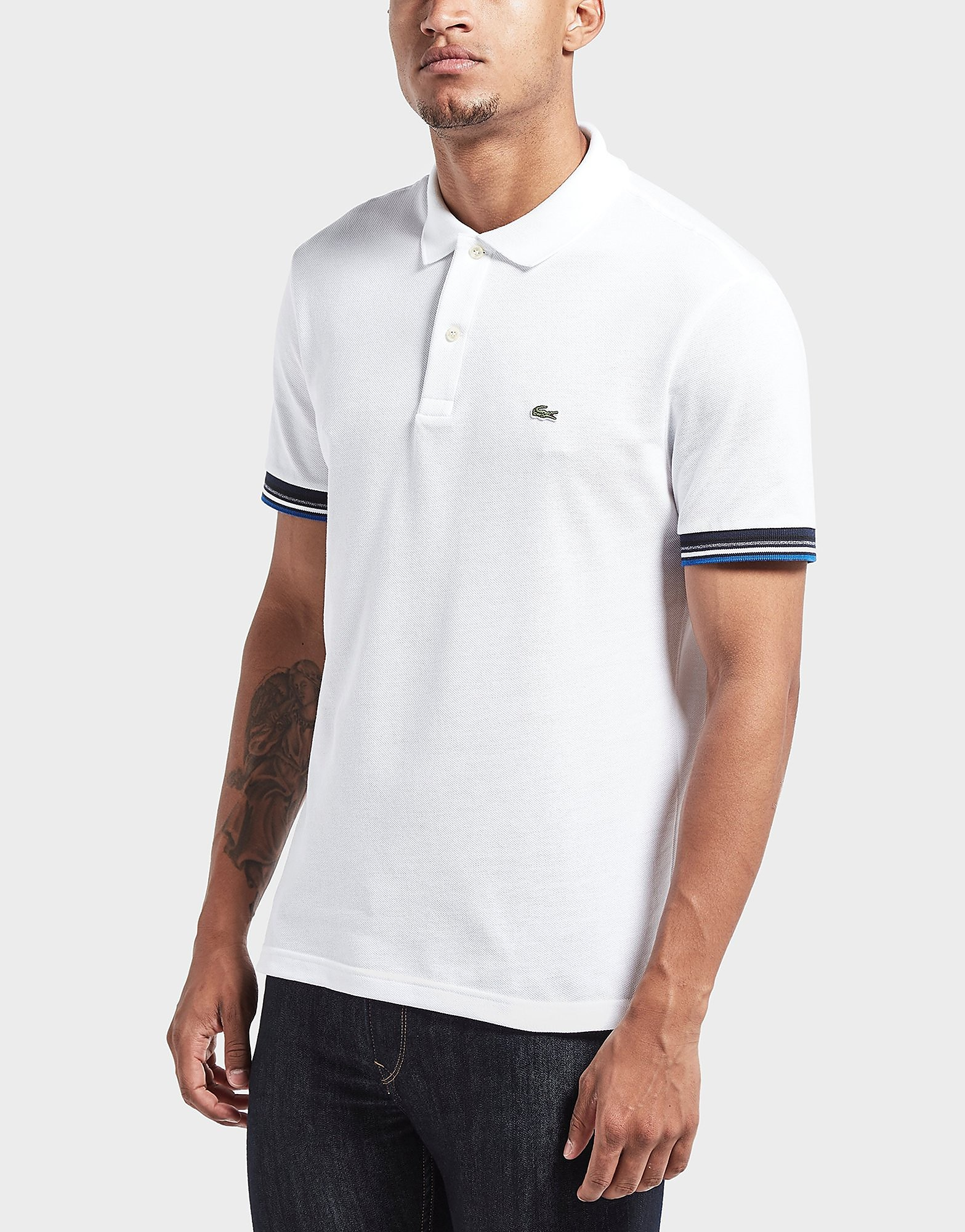 Lacoste Ribbed Short Sleeve Polo Shirt