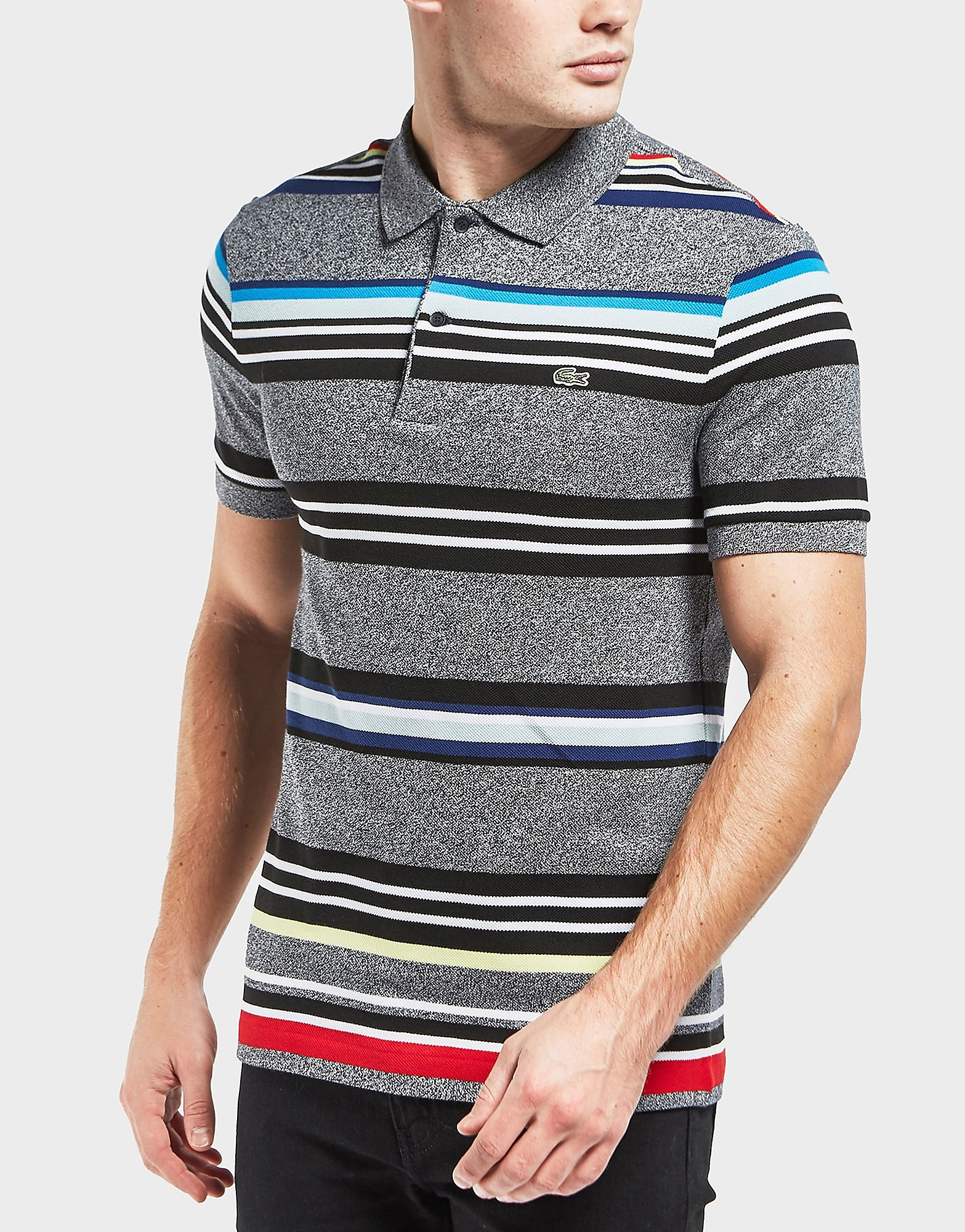 Lacoste Stripe Pique Short Sleeve Polo Shirt