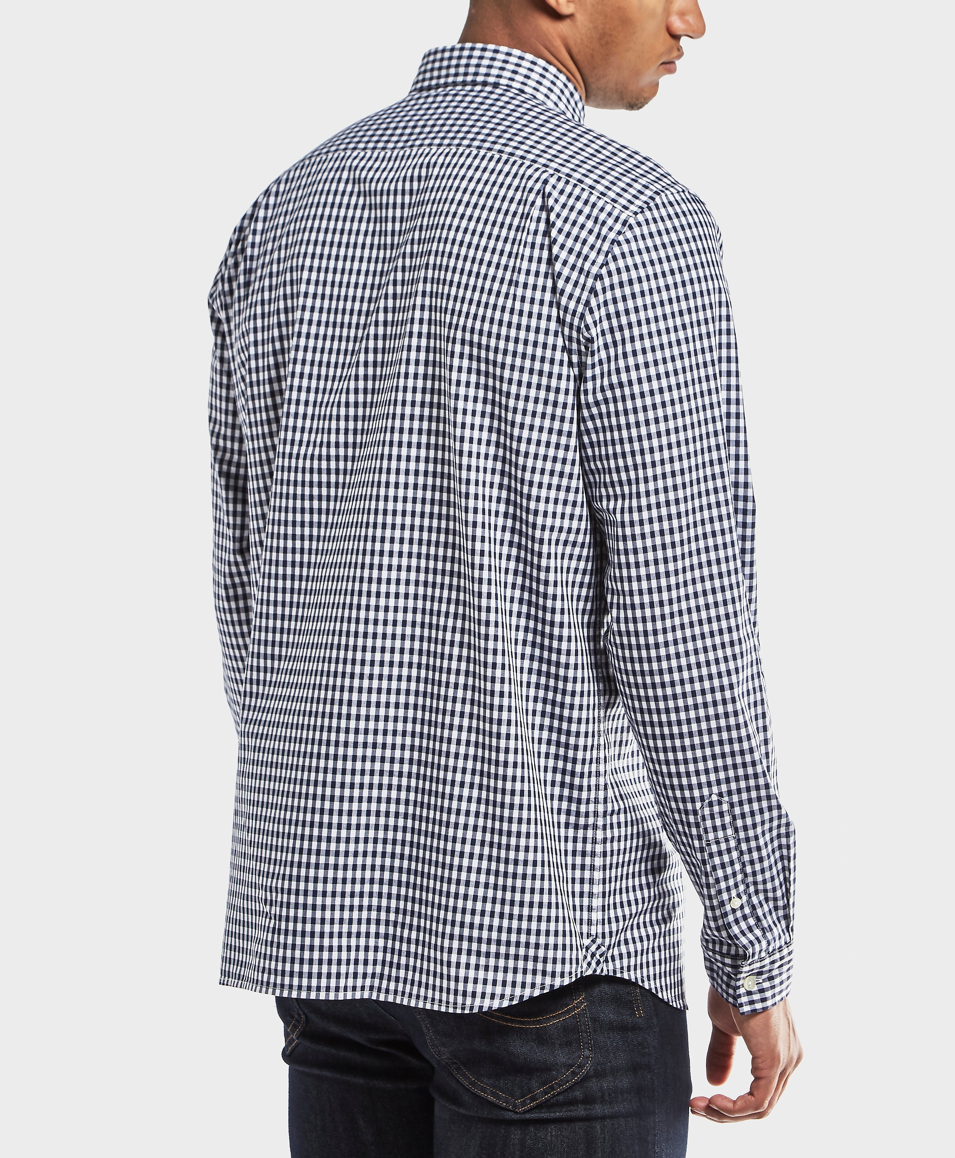 Lacoste Gingham Poplin Long Sleeve Shirt