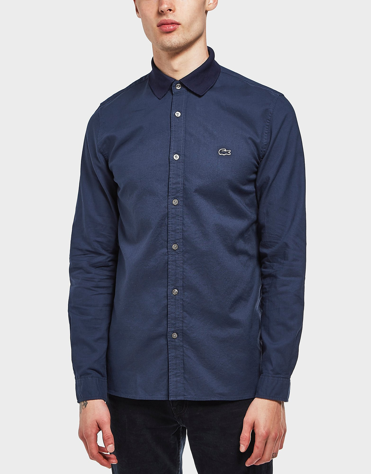 Lacoste Fabric Collar Long Sleeve Shirt