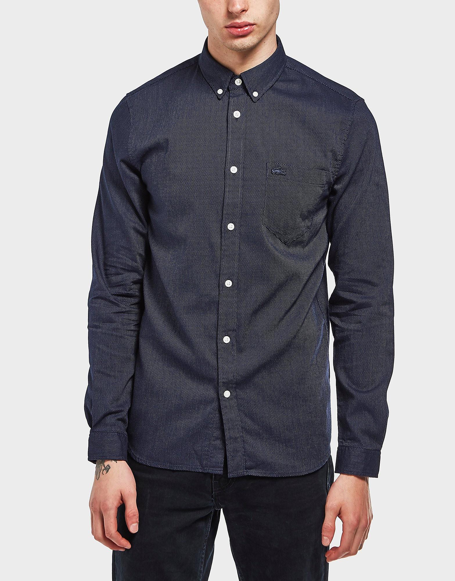 Lacoste Micro Poplin Long Sleeve Shirt