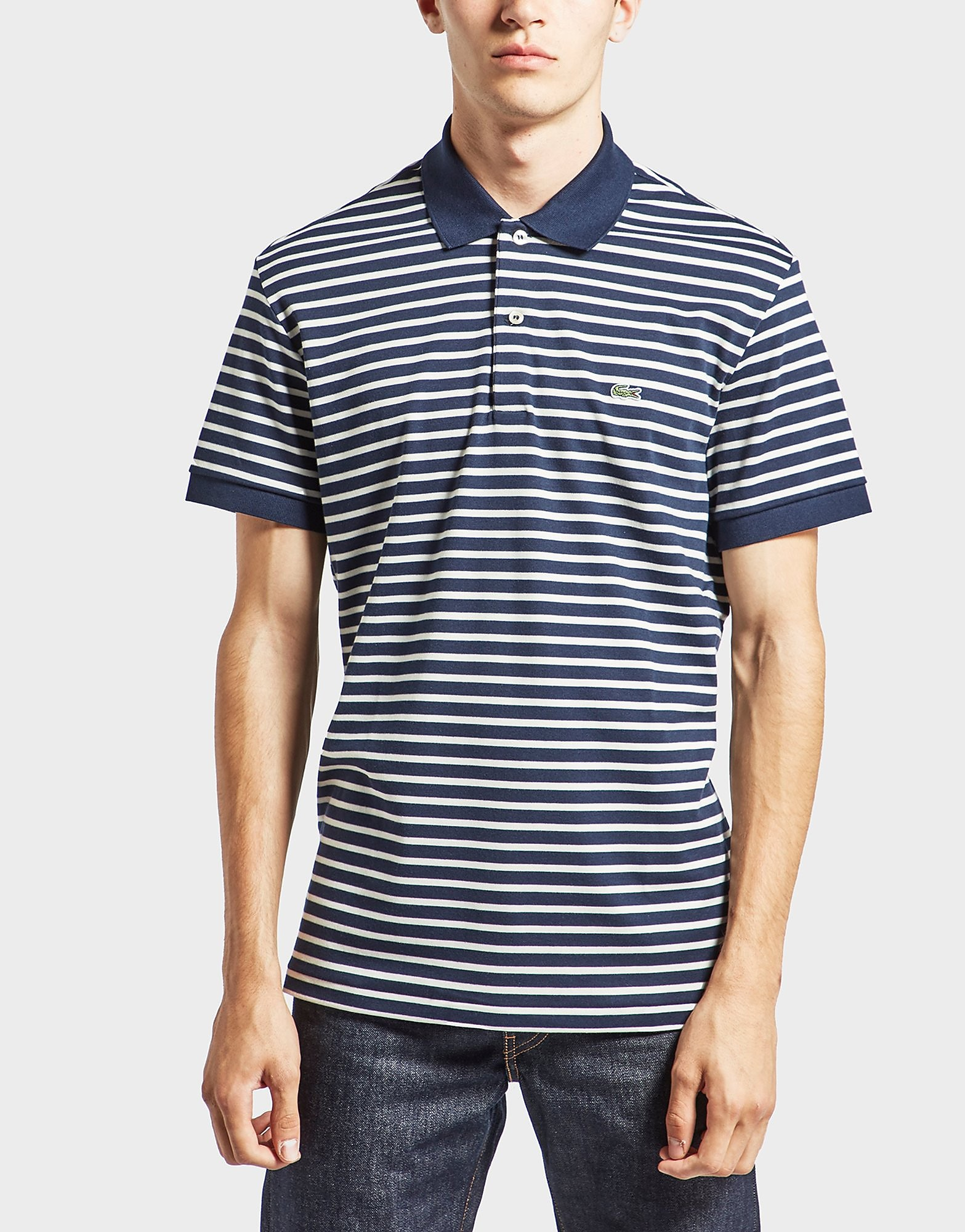 Lacoste Horizontal Stripe Polo Shirt