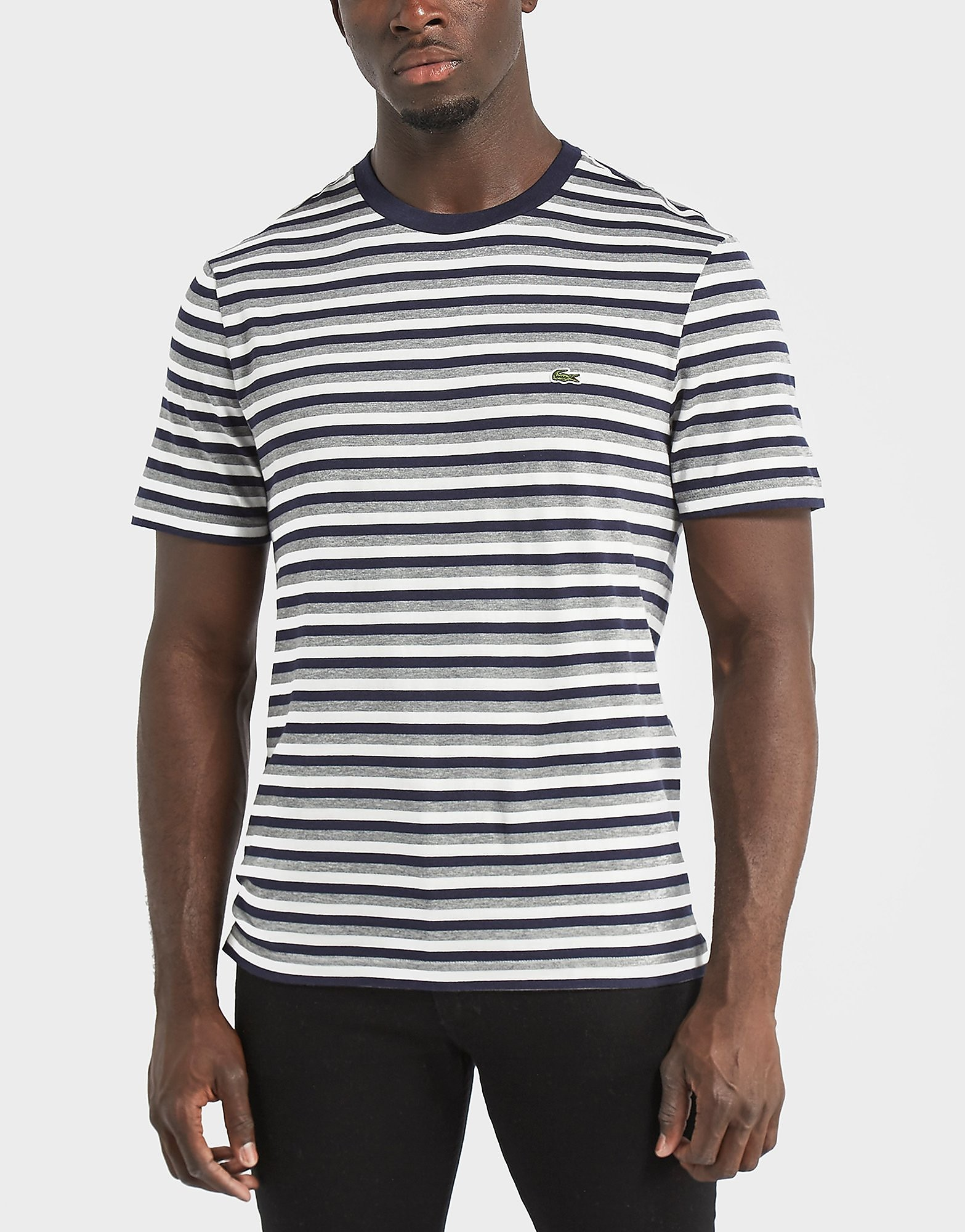 Lacoste Striped Short Sleeve Crew Neck T-Shirt