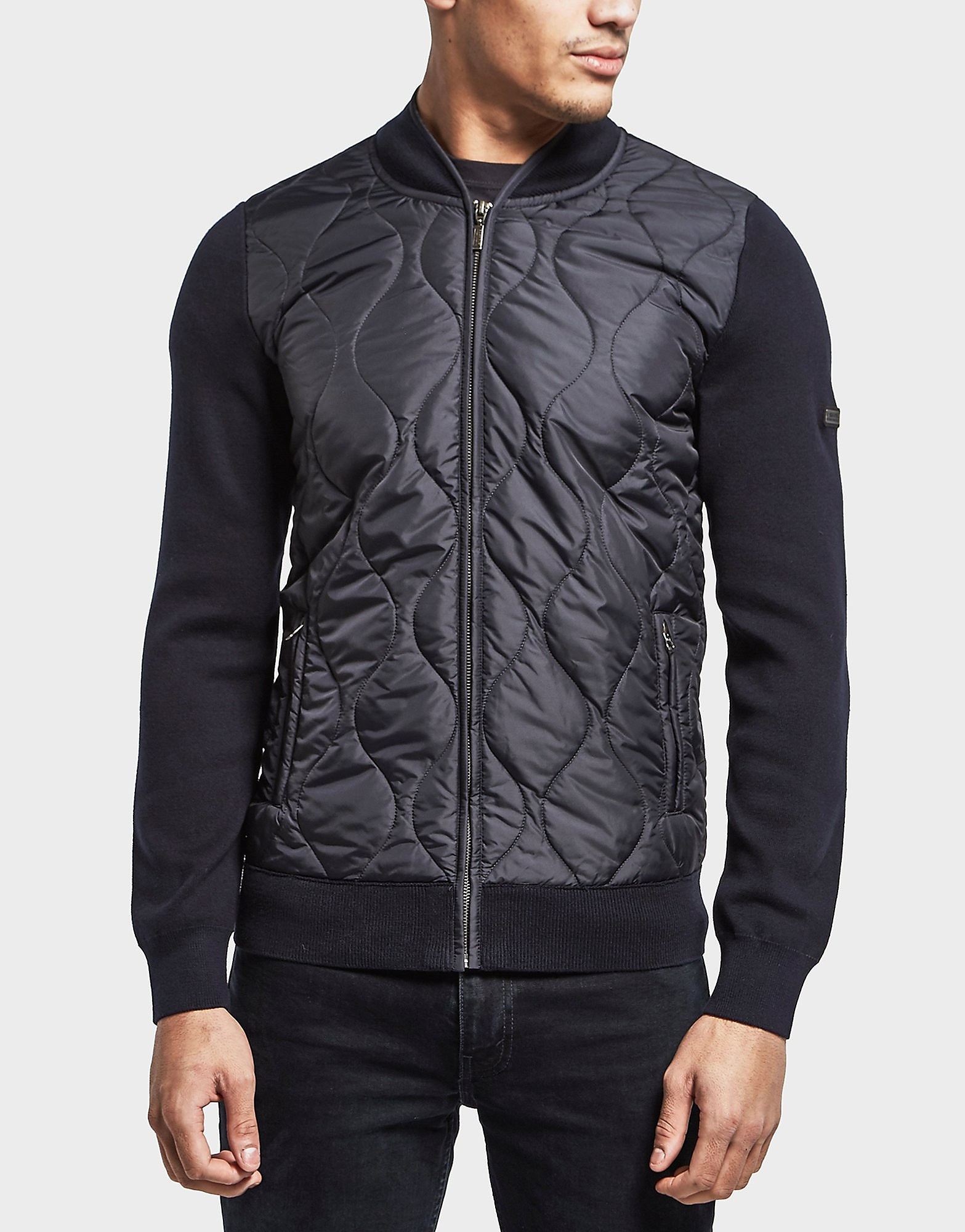 Barbour International Track Padded Bomber Sweatshirt