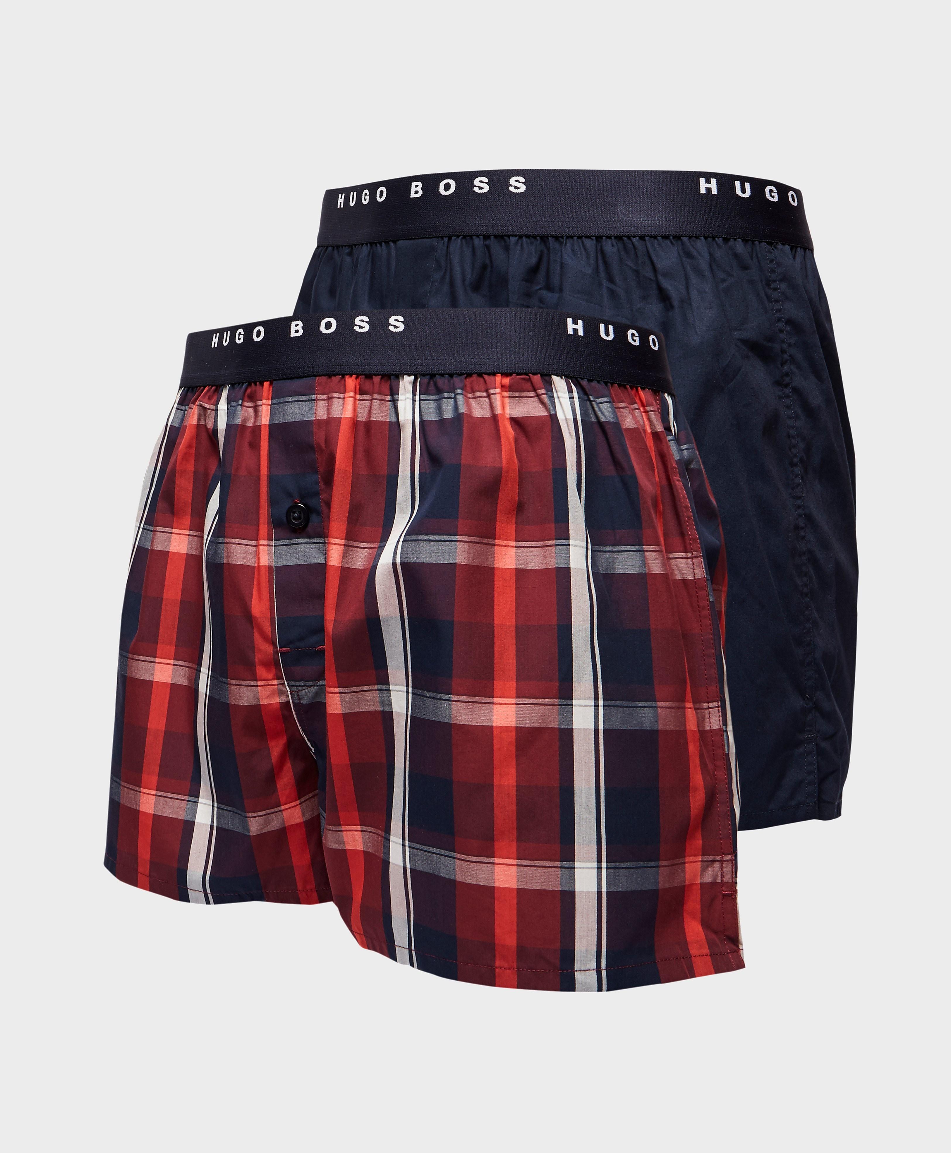 BOSS 2-Pack Woven Check Boxer Shorts