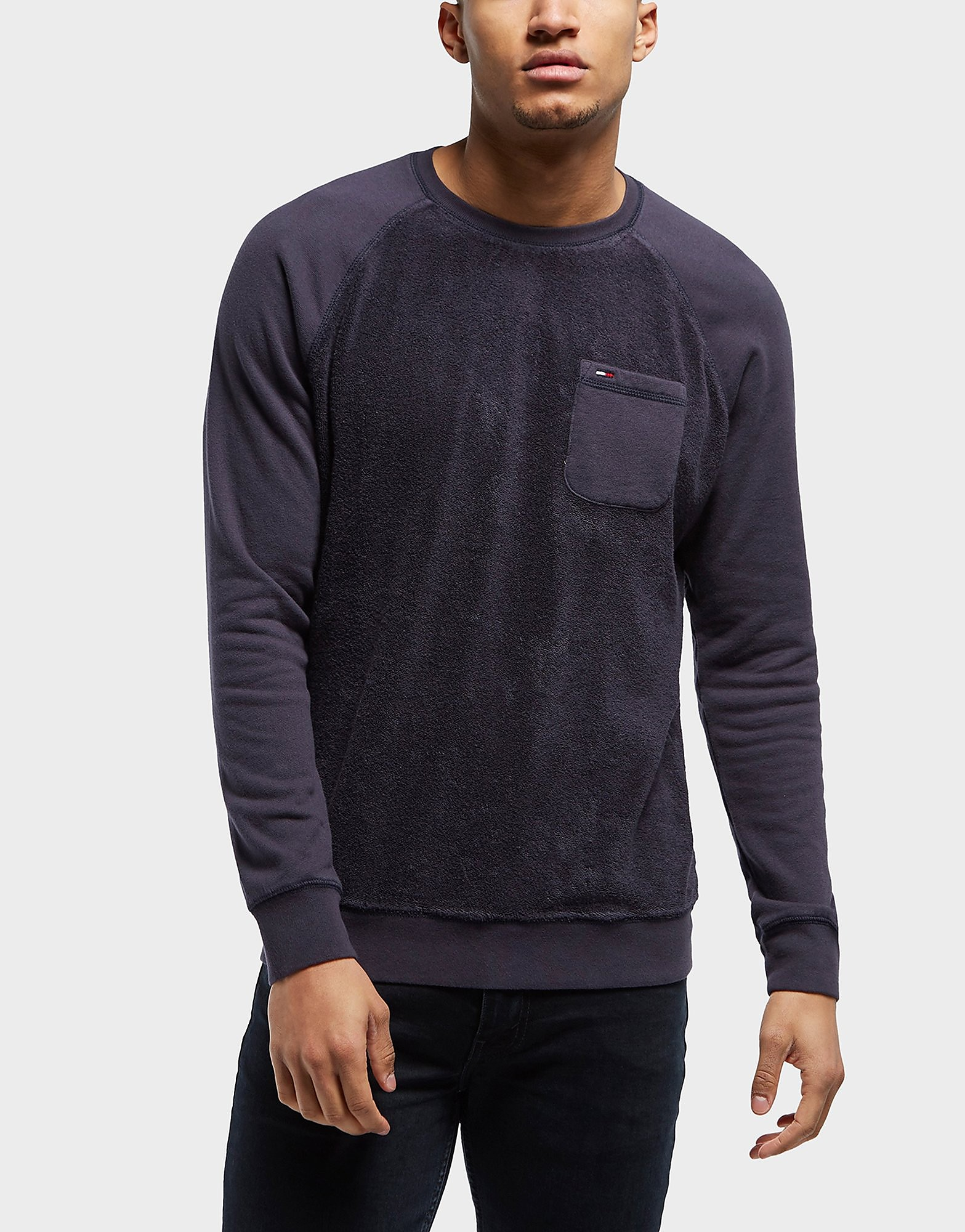 Tommy Hilfiger Towelling Pocket Crew Sweatshirt