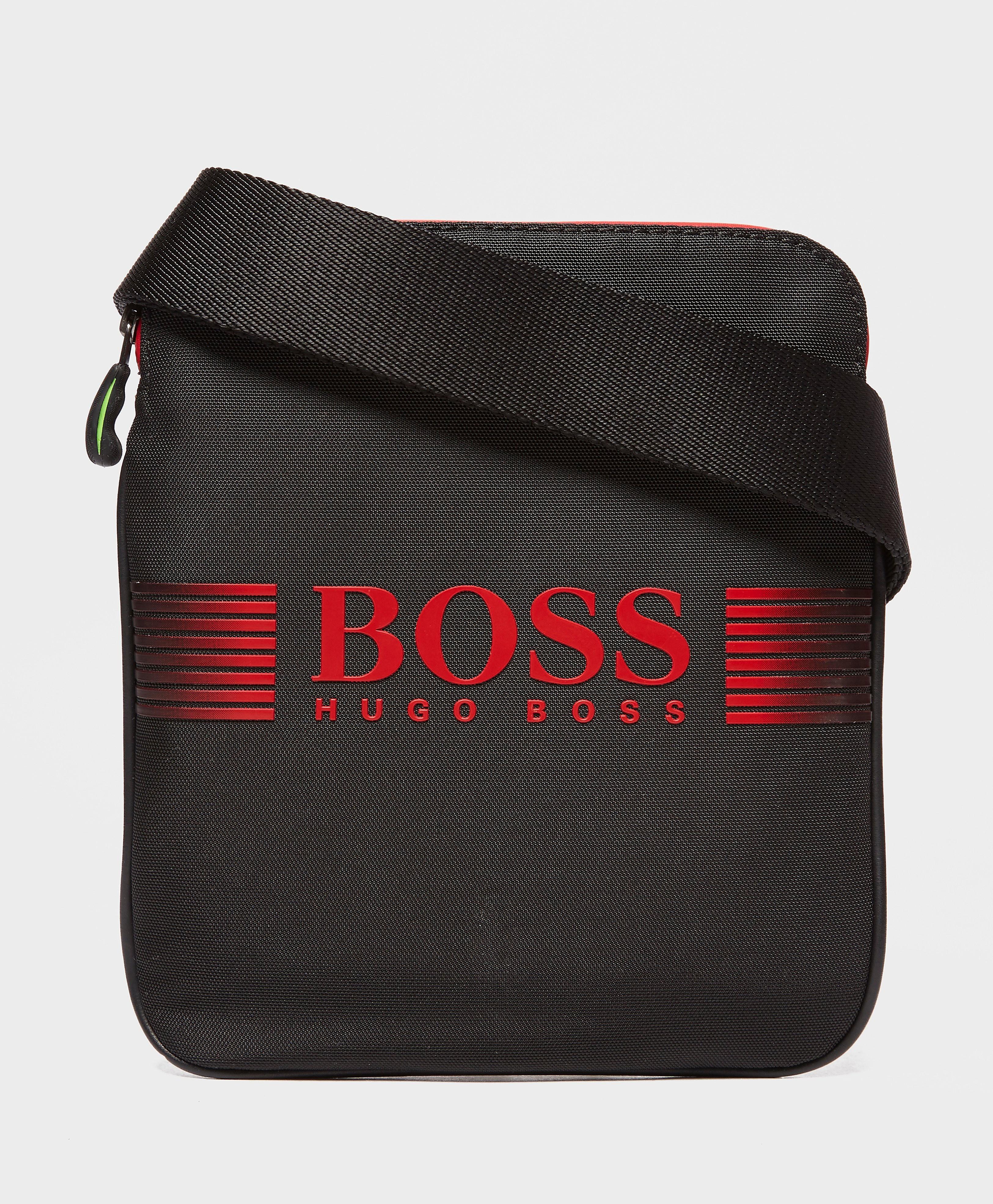 BOSS Green Pixel Pouch Bag