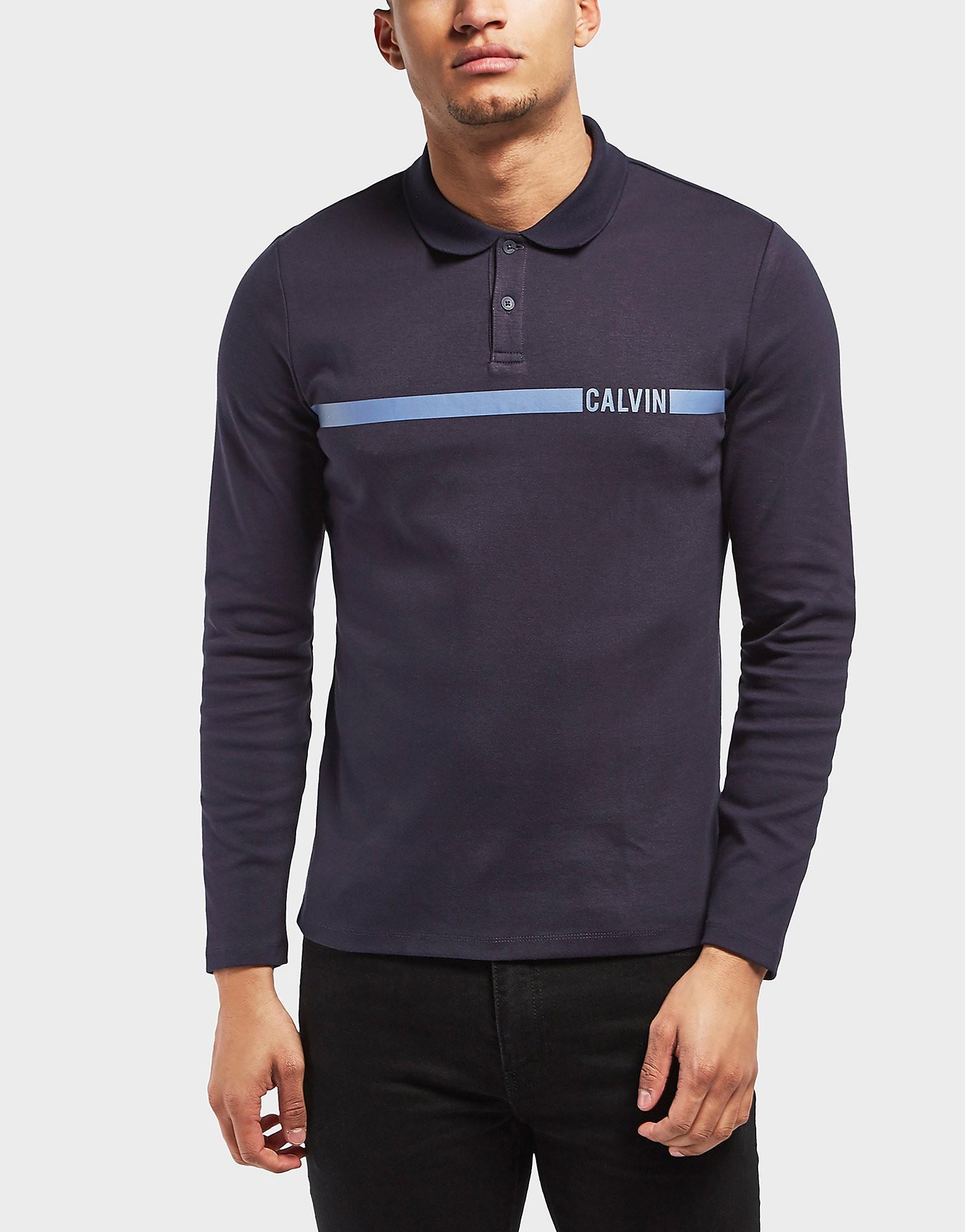 Calvin Klein Band Long Sleeve Polo Shirt