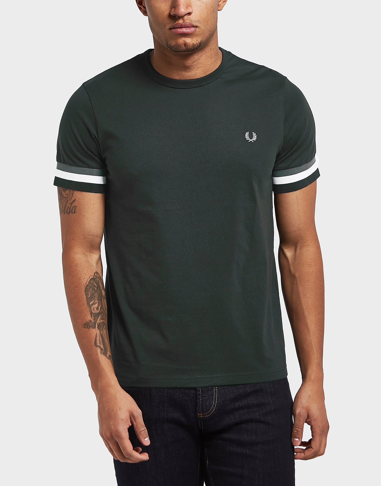 Fred Perry Cuff Short Sleeve T-Shirt - Exclusive