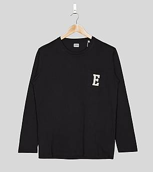 Edwin Long-Sleeved Pocket Logo T-Shirt