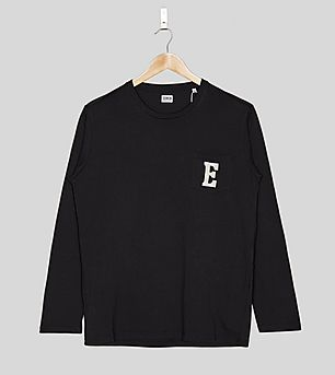 Edwin Long-Sleeved Pocket Logo T-Shirt