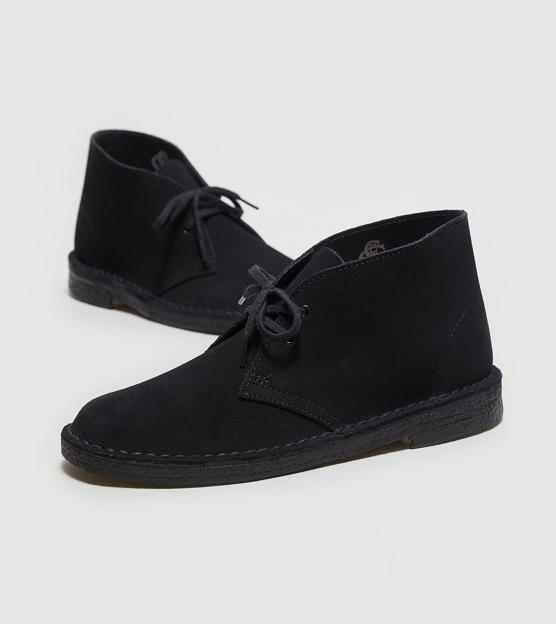 Wonderful Womens Desert Boot Black Suede  Originals Womens Boots  Clarks