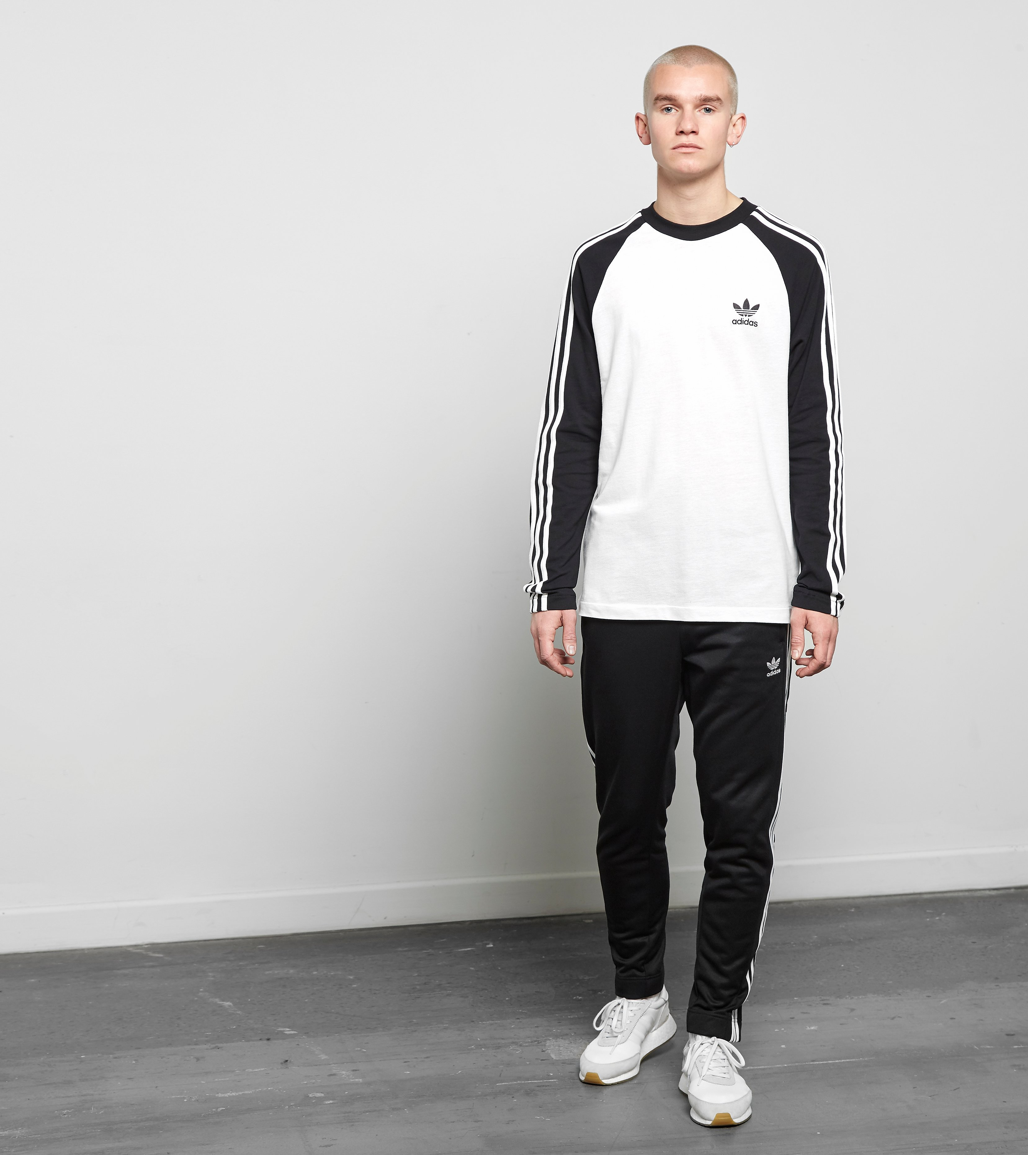 adidas Originals 3-Stripe Long Sleeved T-Shirt