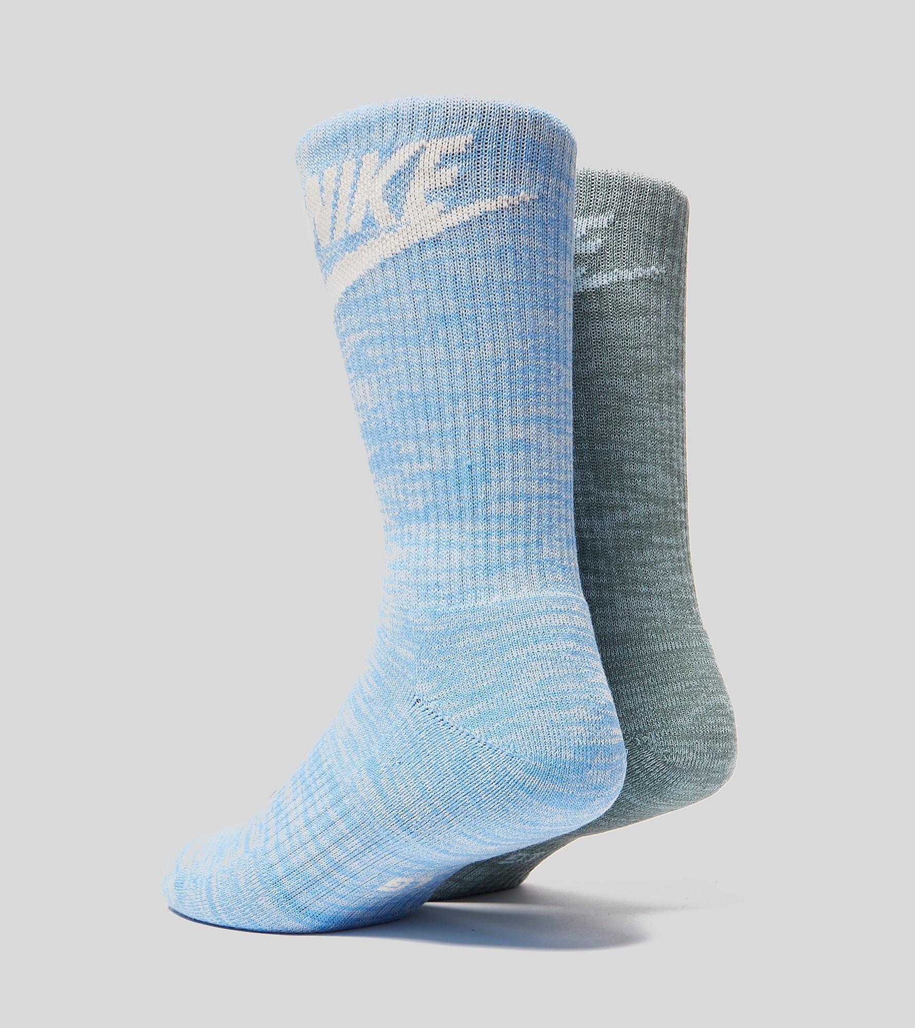 Nike Advance Crew 2 Pack Socks