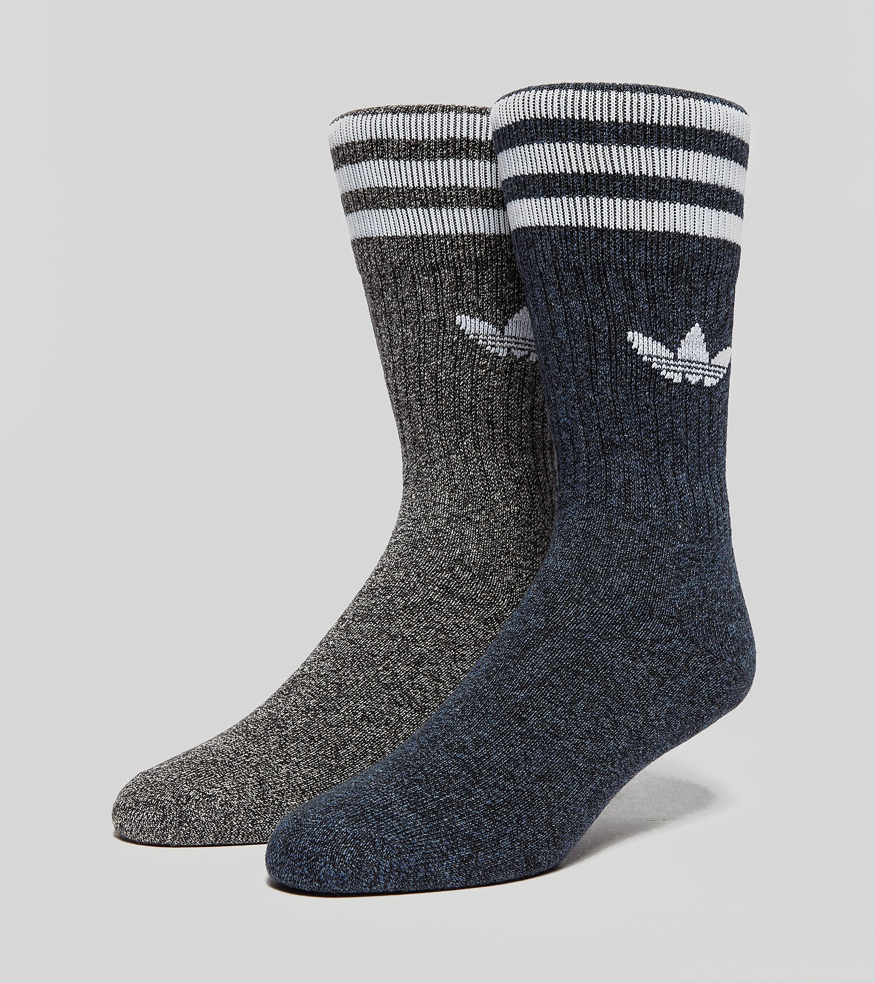 adidas Originals 2 Pack Socks Melange Grey