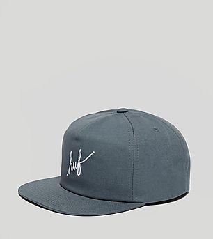 HUF Script Snapback Cap