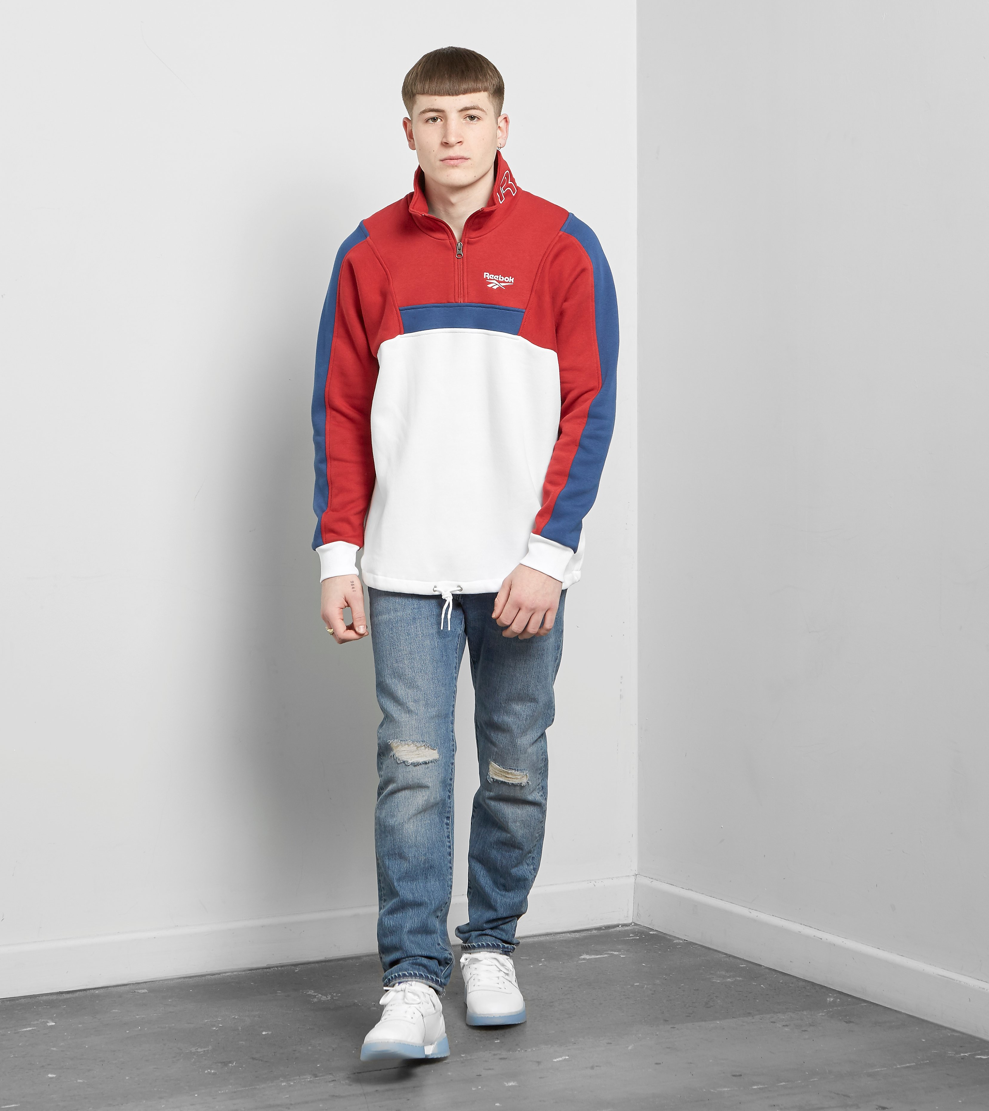 Reebok Half Zip Fleece Sweatshirt