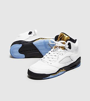 Jordan Retro 5 'White/Metallic Gold' BG