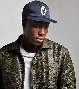 Obey 6 Panel Leather Strapback Cap