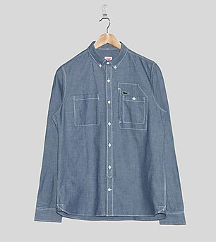 Lacoste L!VE Chambray Long-Sleeved Shirt