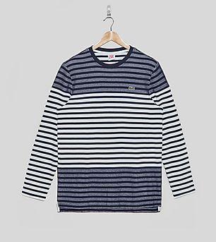 Lacoste L!VE Long-Sleeved Knit Striped T-Shirt