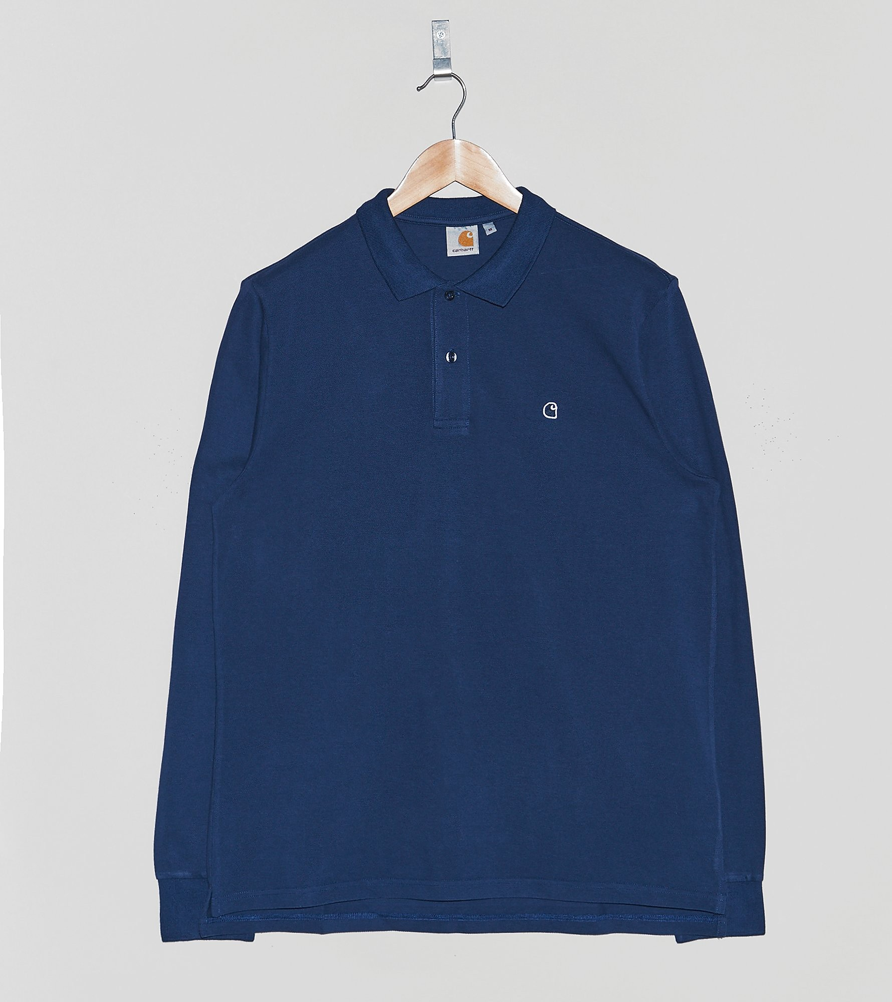 Carhartt WIP Long-Sleeved Patch Polo Shirt