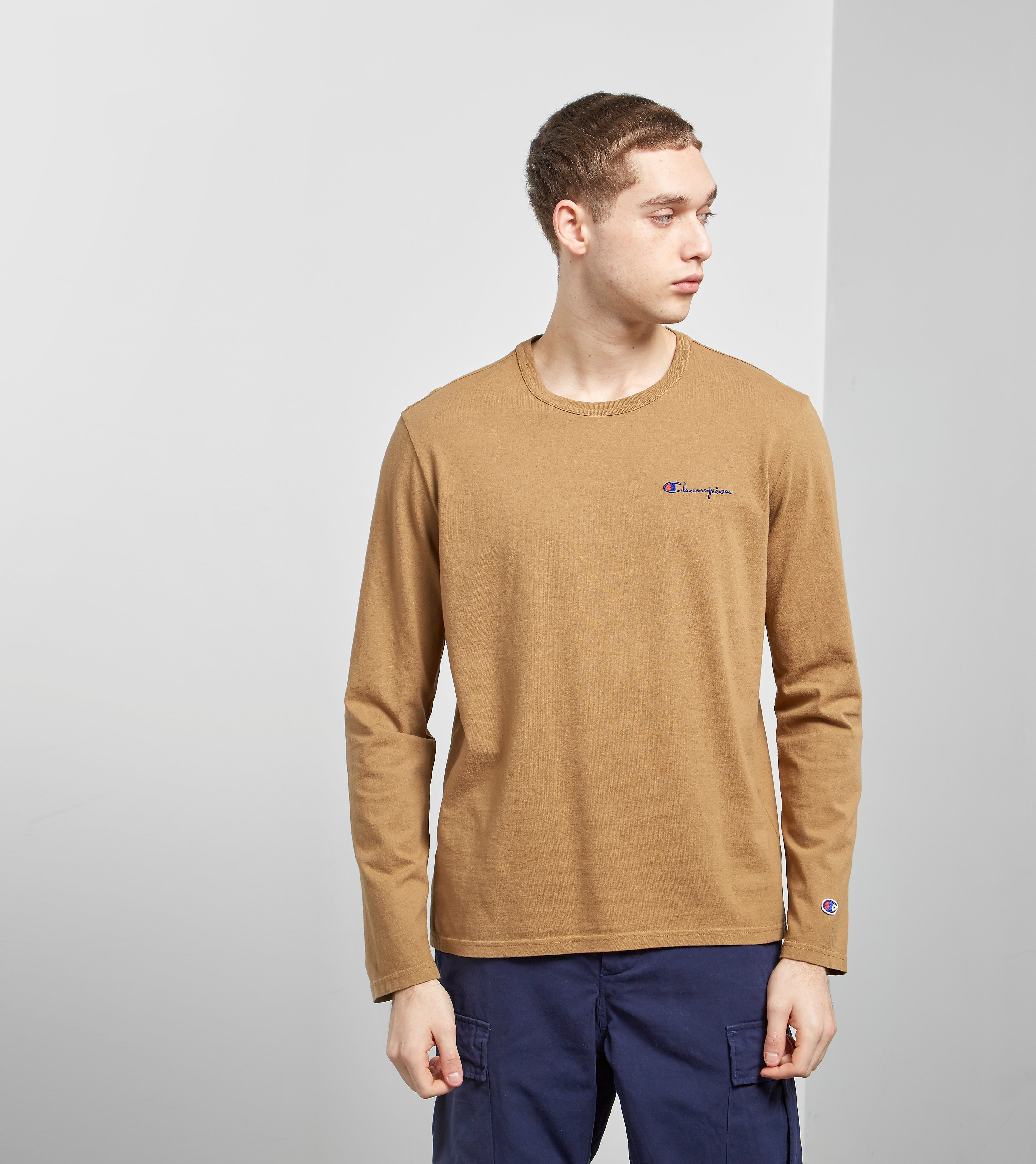 Champion Garment Dyed Long Sleeved T-Shirt -size? Exklusiv