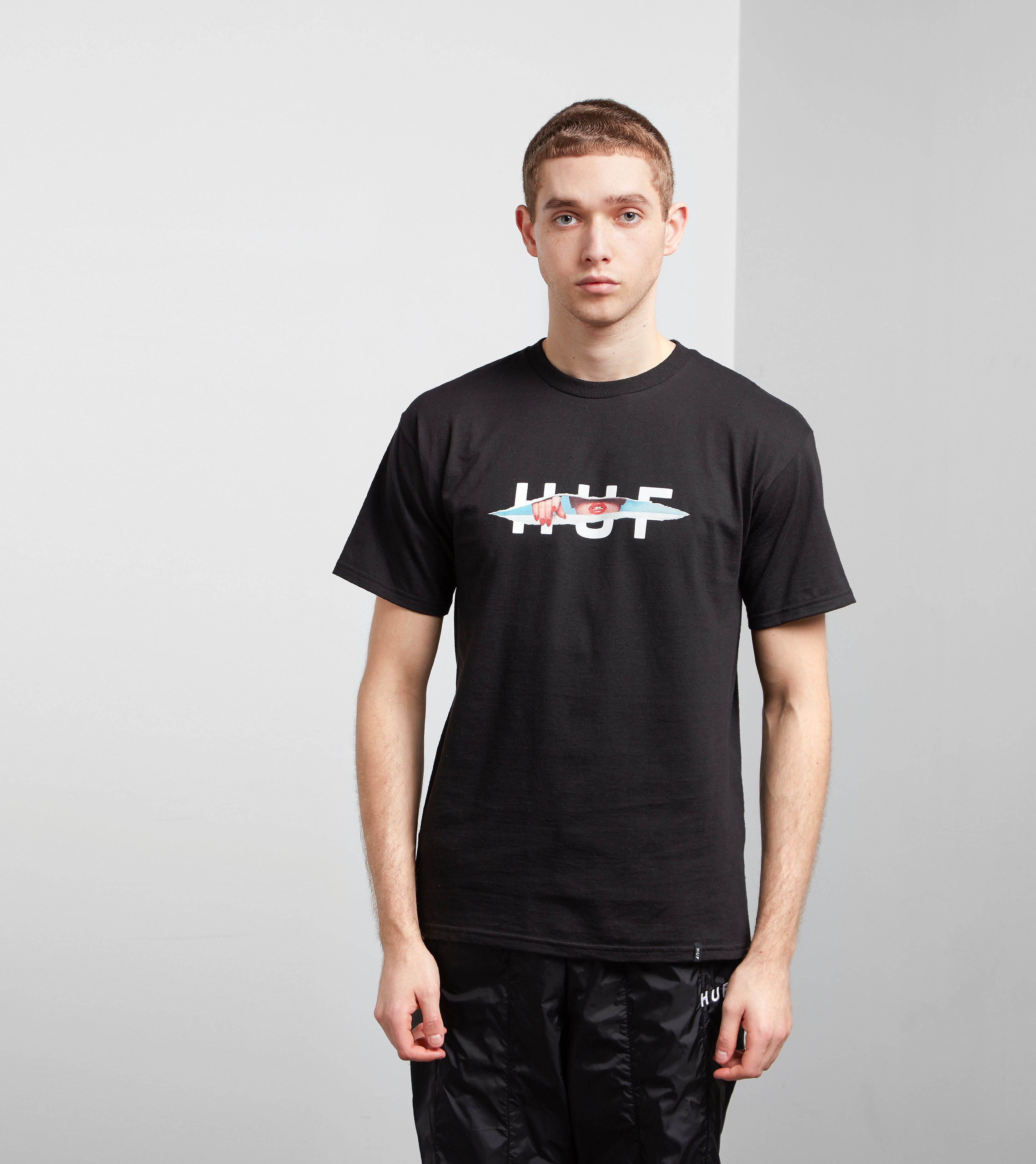 HUF Ripped Logo T-Shirt