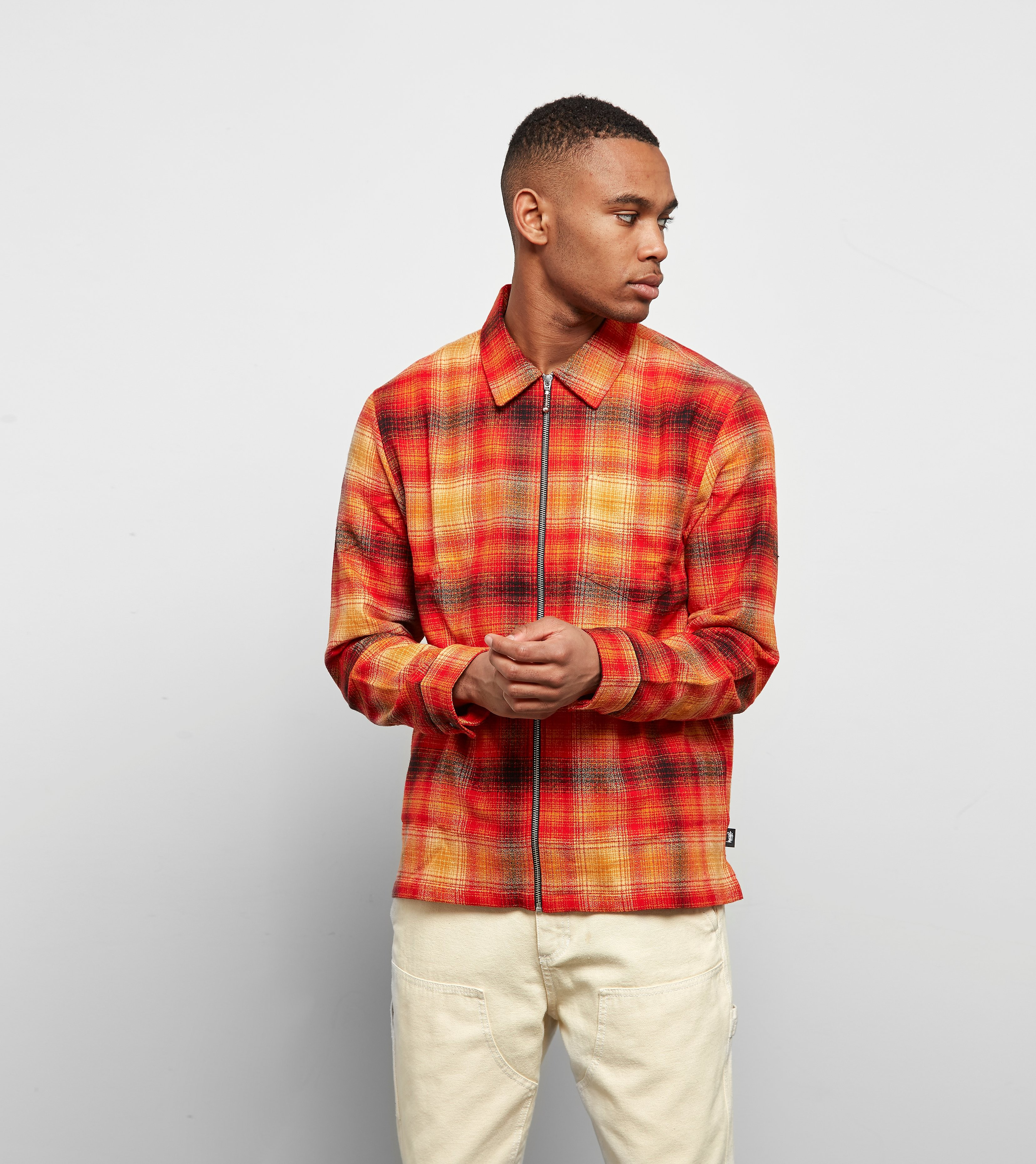 Stussy Zip Up Plaid Skjorte