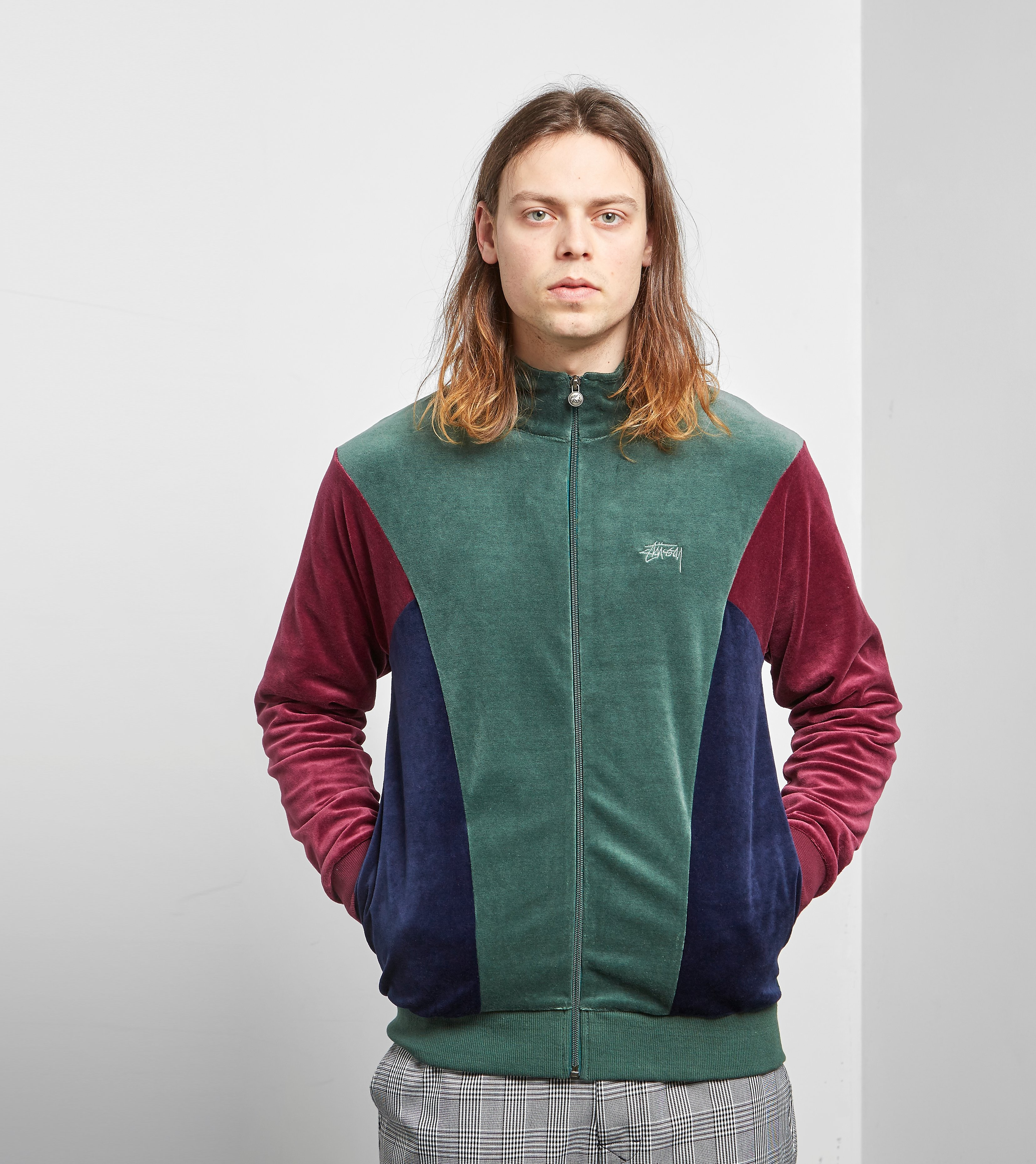Stussy Velour Panelled Track Top