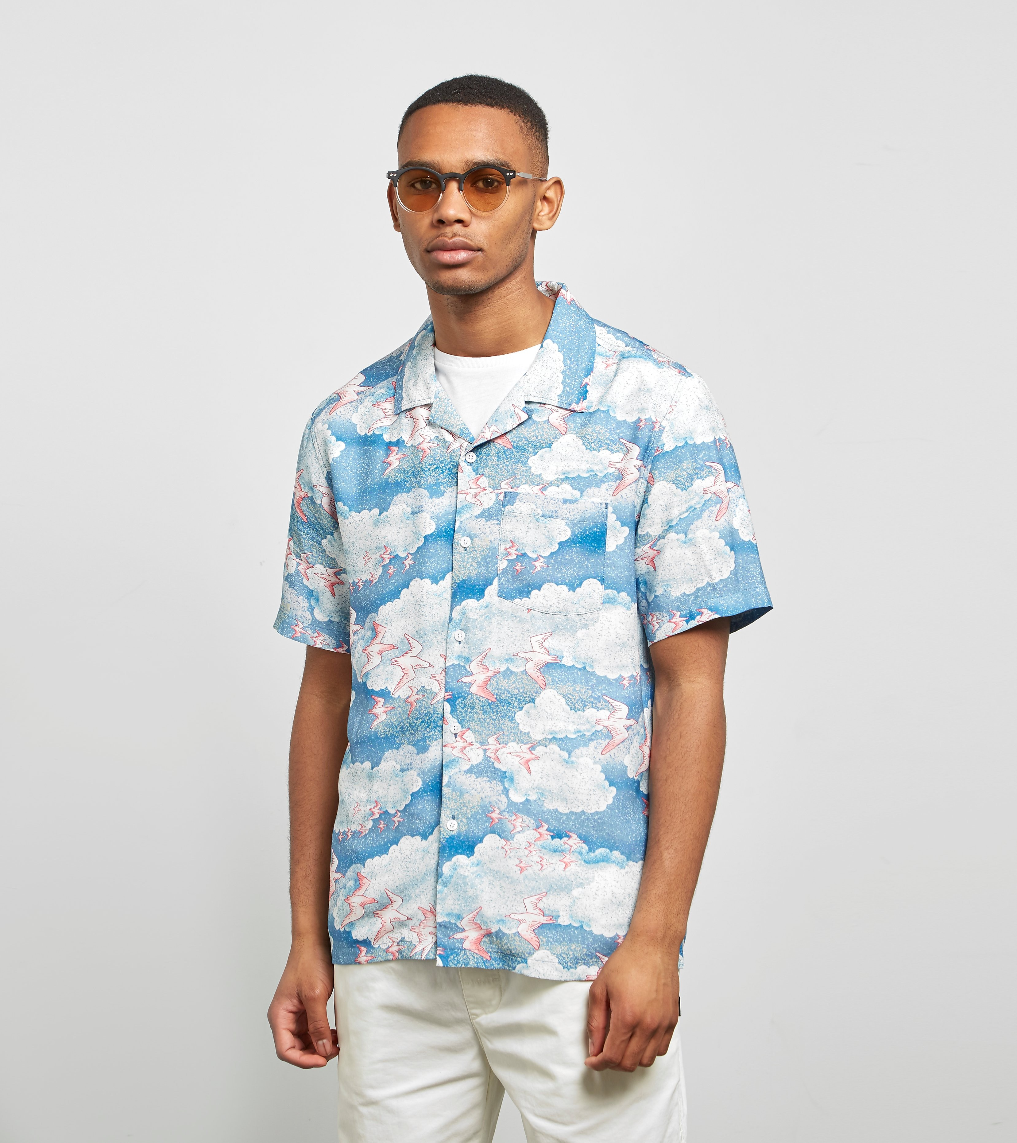 Stussy Clouds and Birds Hawaii Skjorte