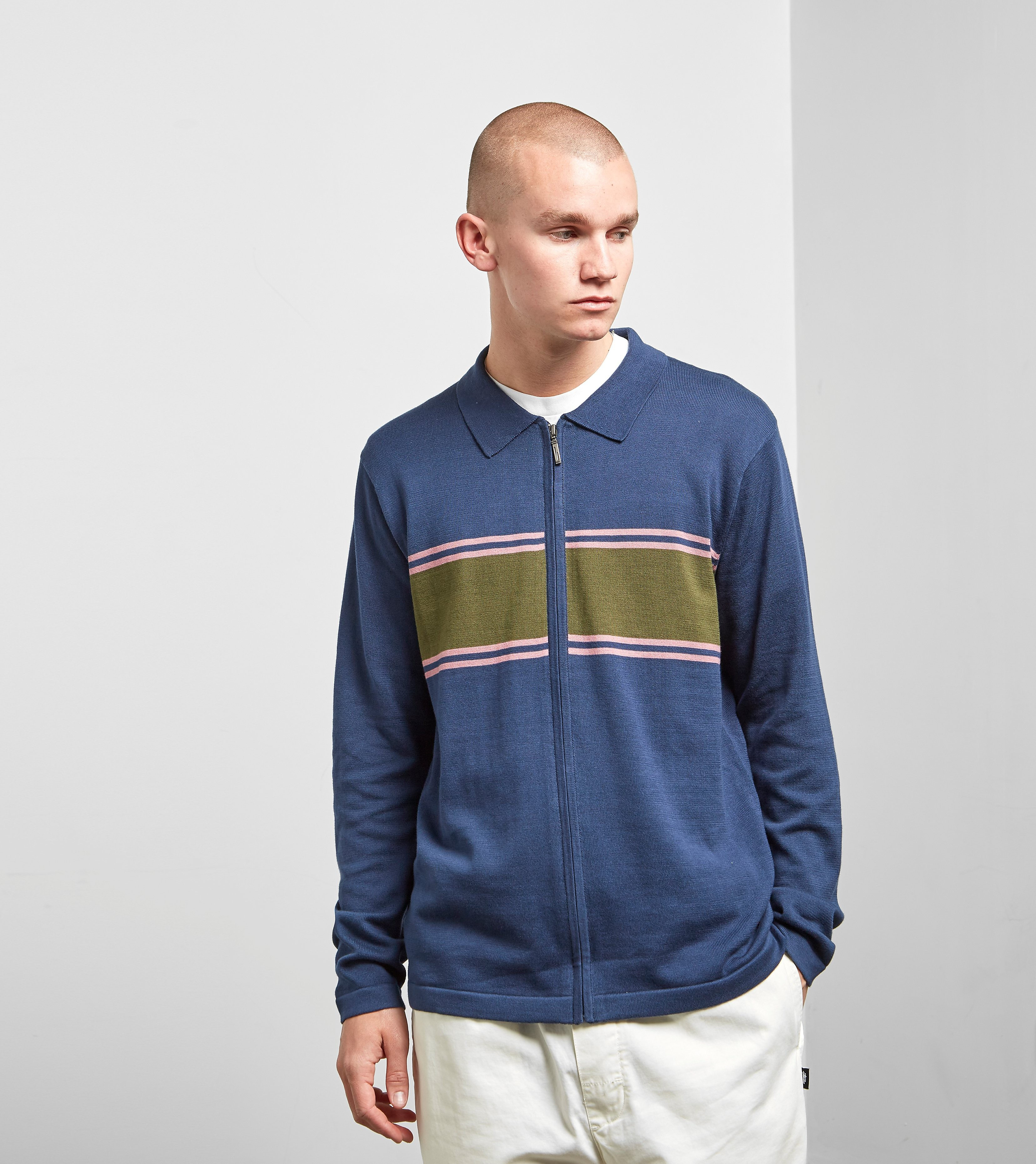 Stussy Cody Stripe Long Sleeved Polo Shirt