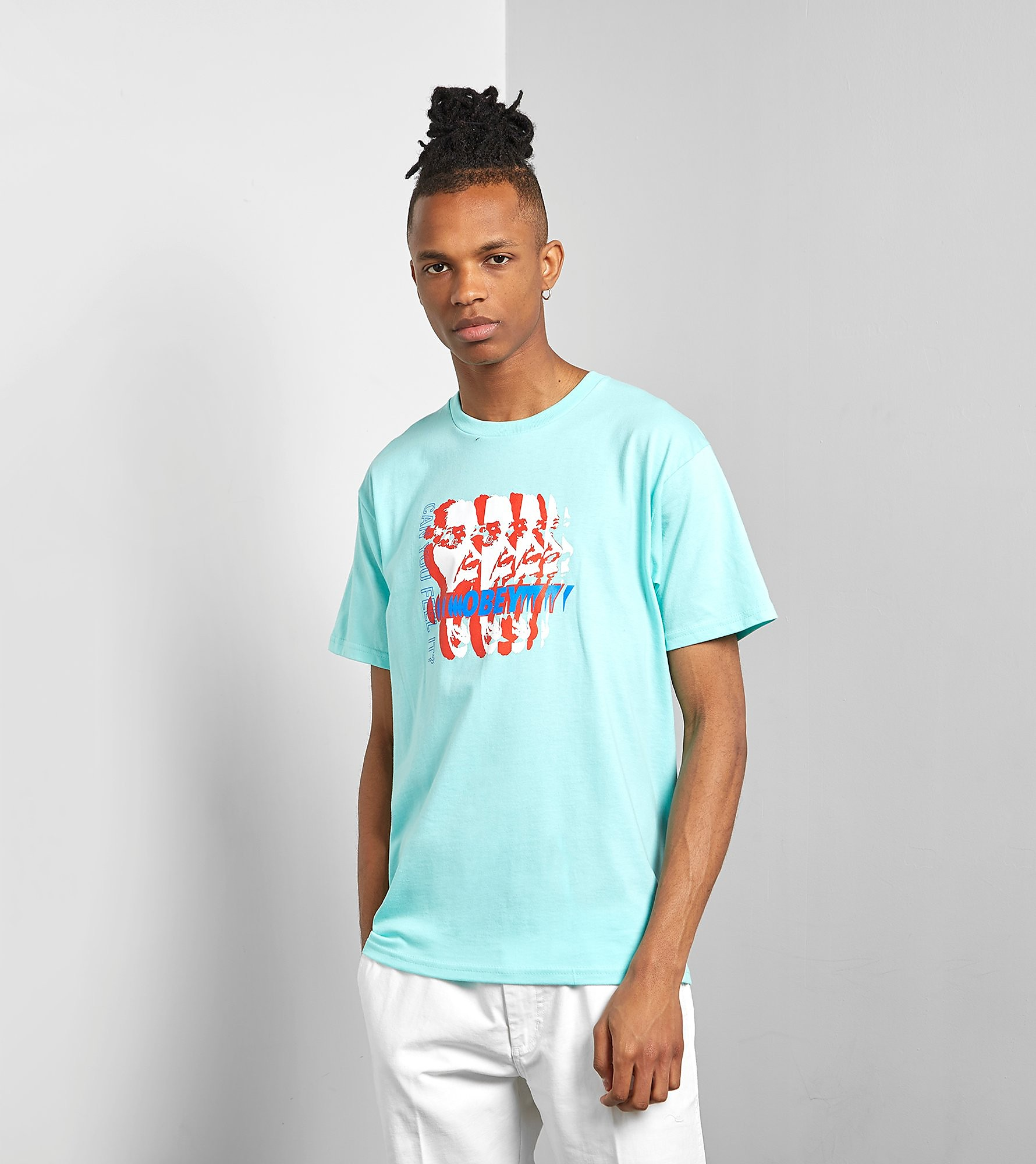 Obey Can You Feel It T-Shirt, Blauw