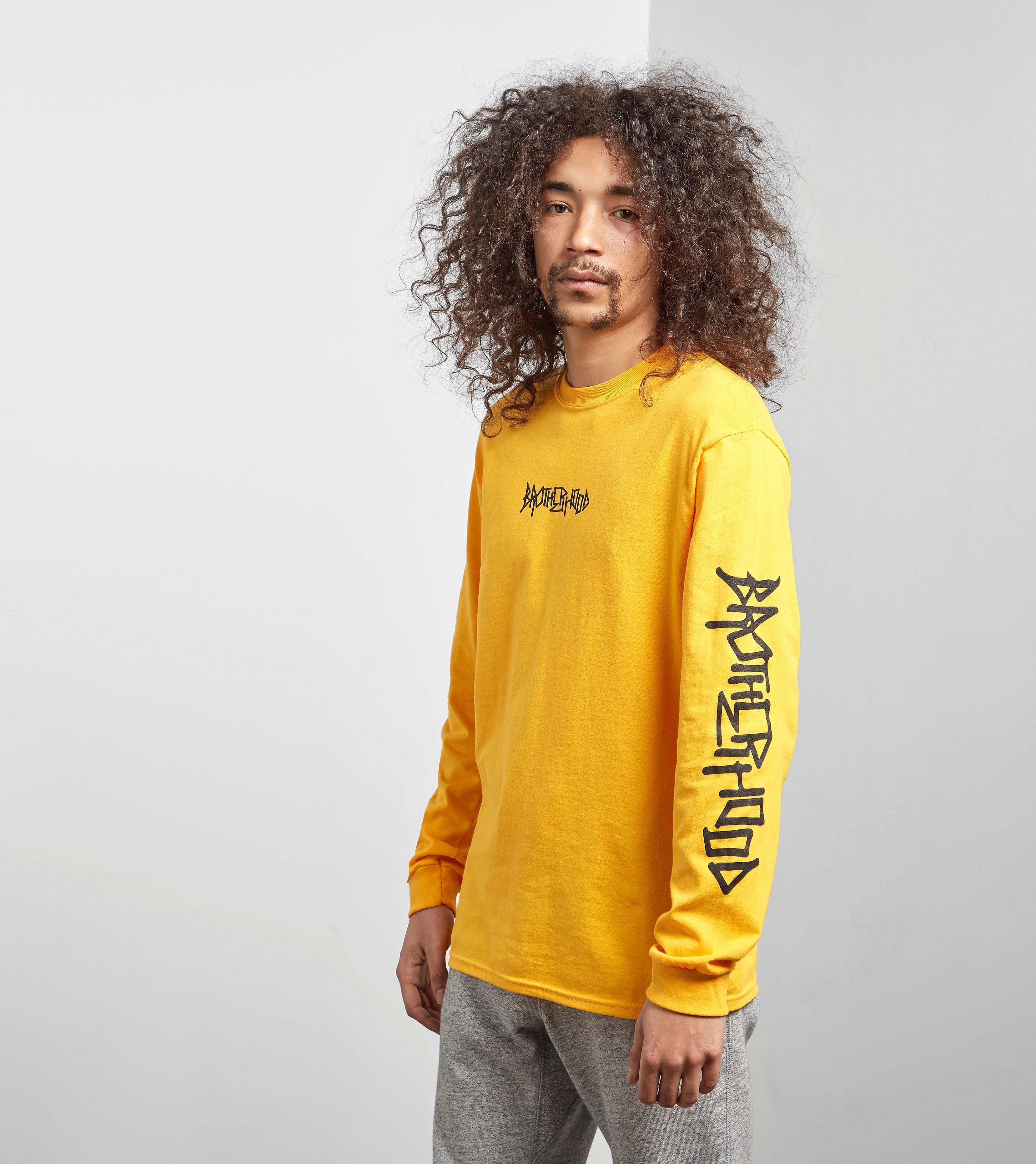 Brotherhood Iconic Long Sleeved T-Shirt, amarillo/negro