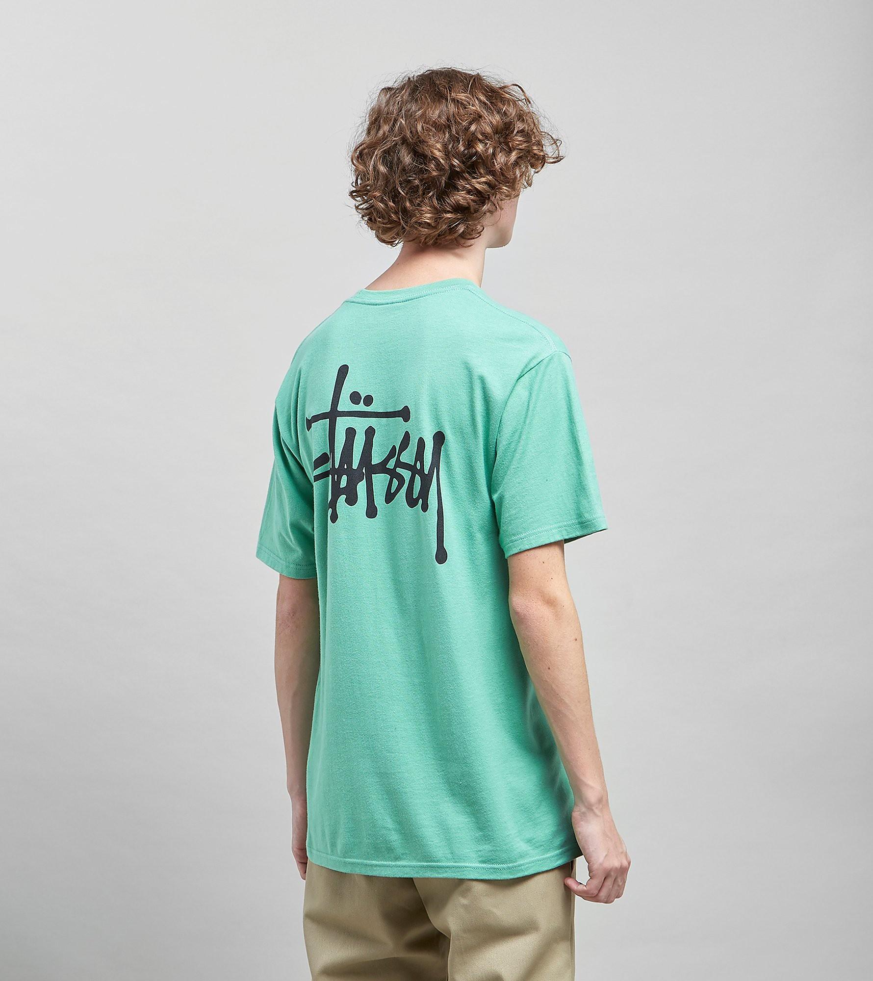 Stussy Basic Logo T-Shirt, Groen