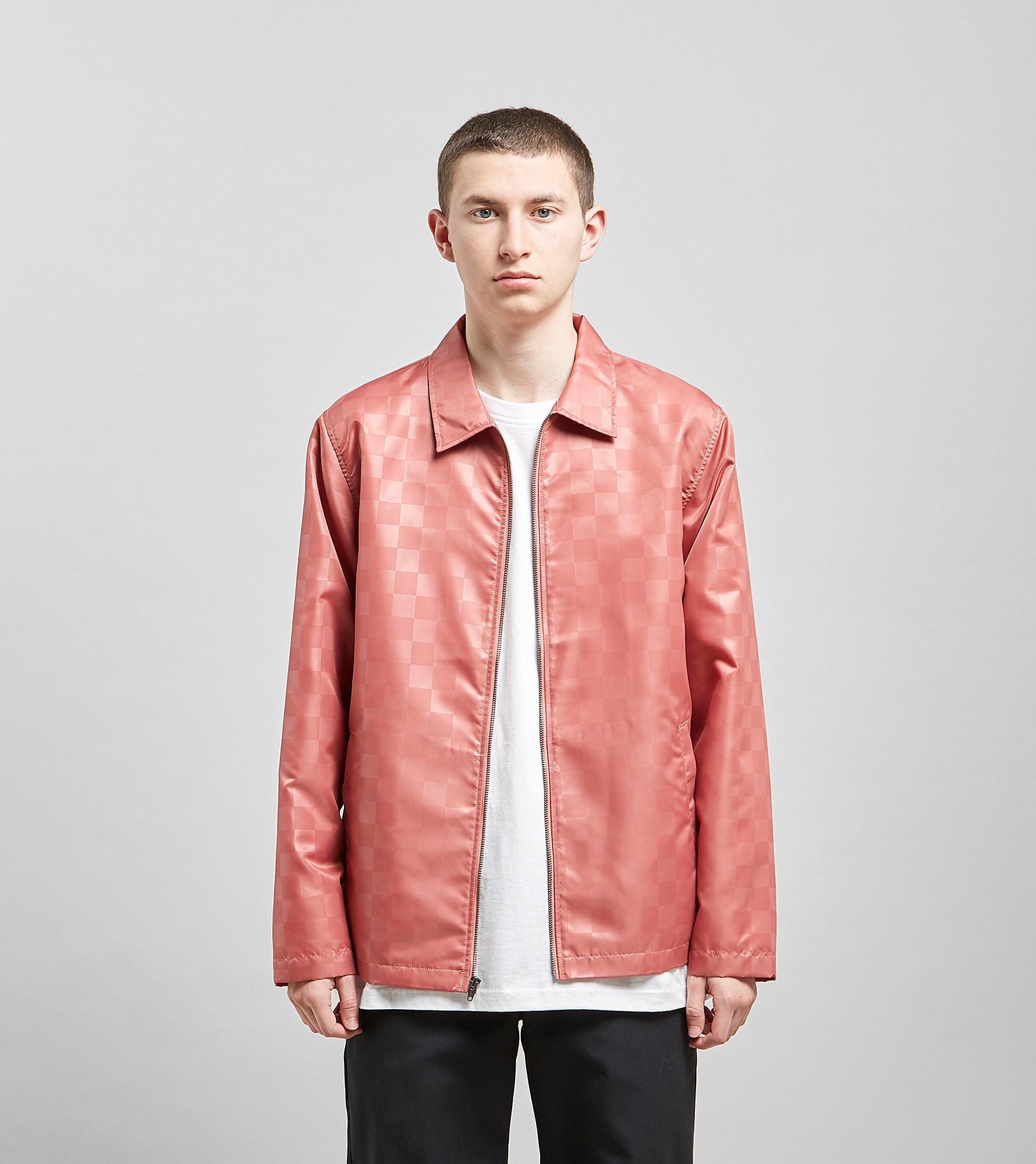 Stussy Tonal Check Jacket, Rosso