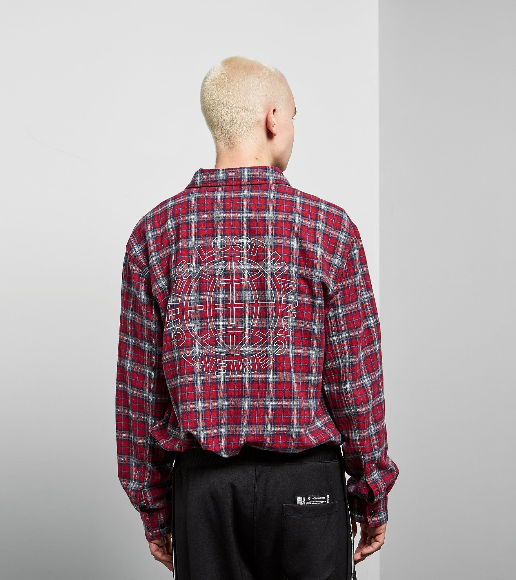 Lost Management Cities Wool Plaid Work Skjorte