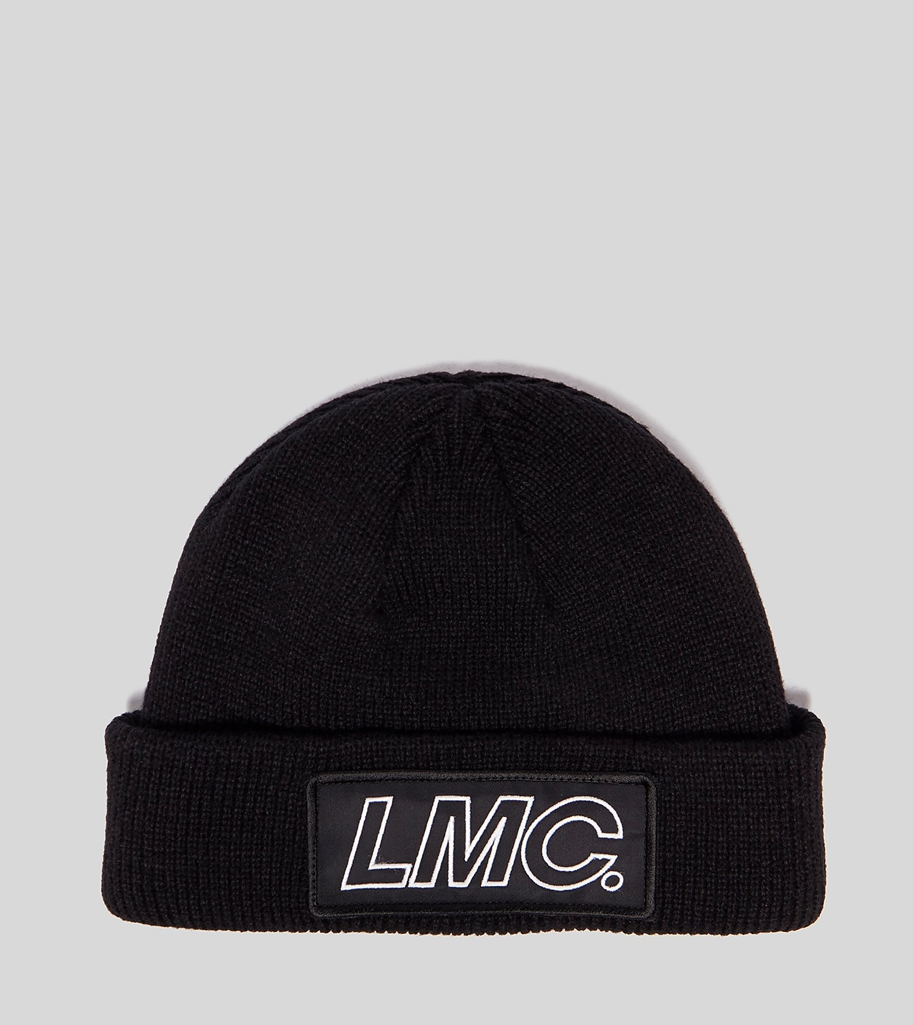 Lost Management Cities Italic Logo Patched Beanie, negro