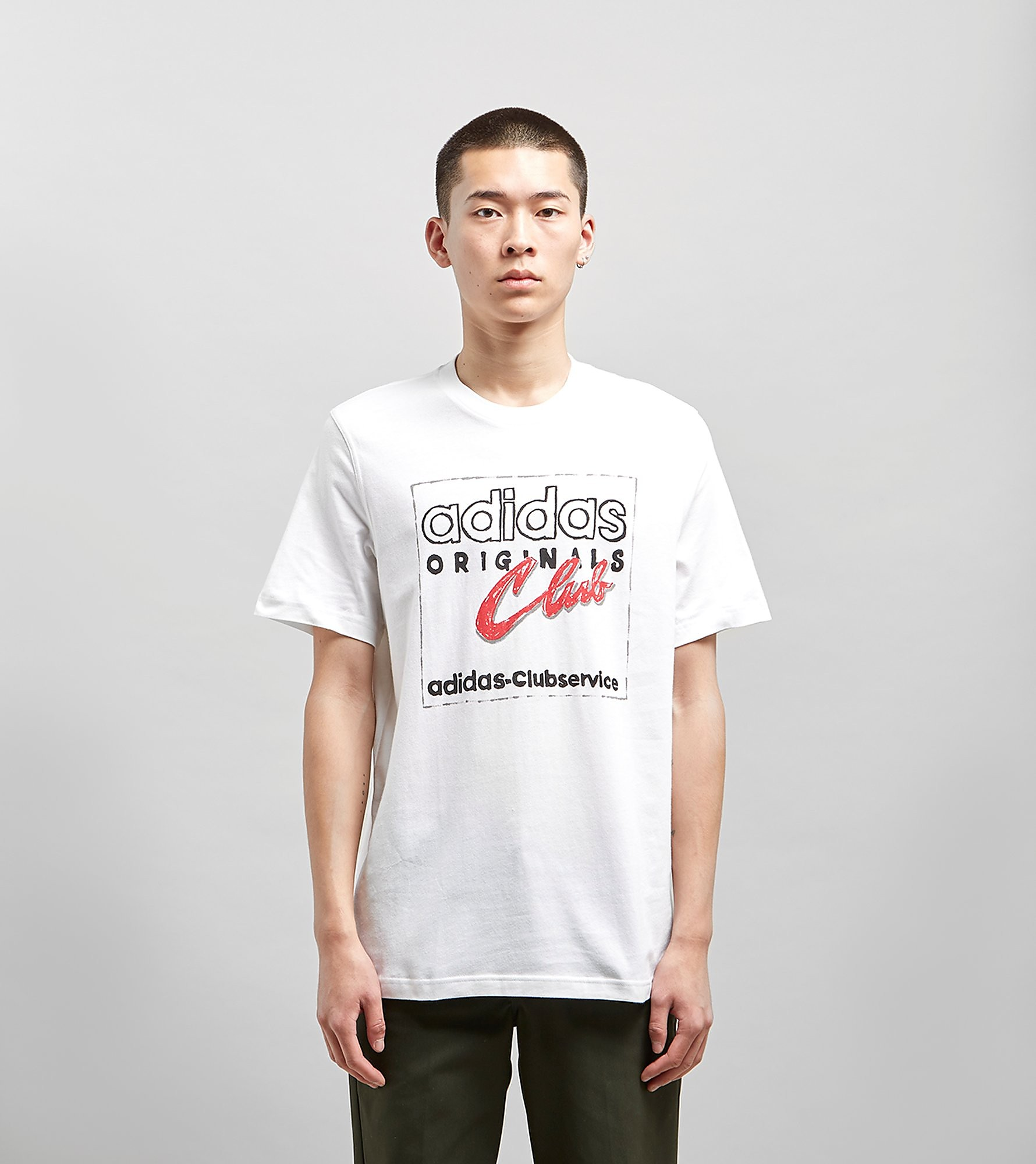 adidas Originals Hand Drawn T-Shirt, Wit