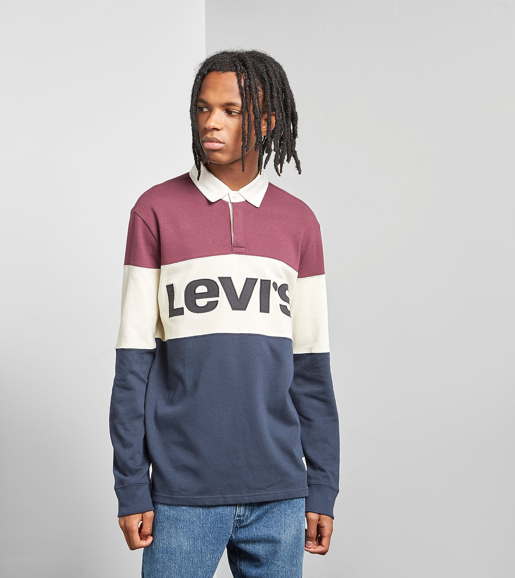 Levis Mighty Blocked Rugby Polo Shirt